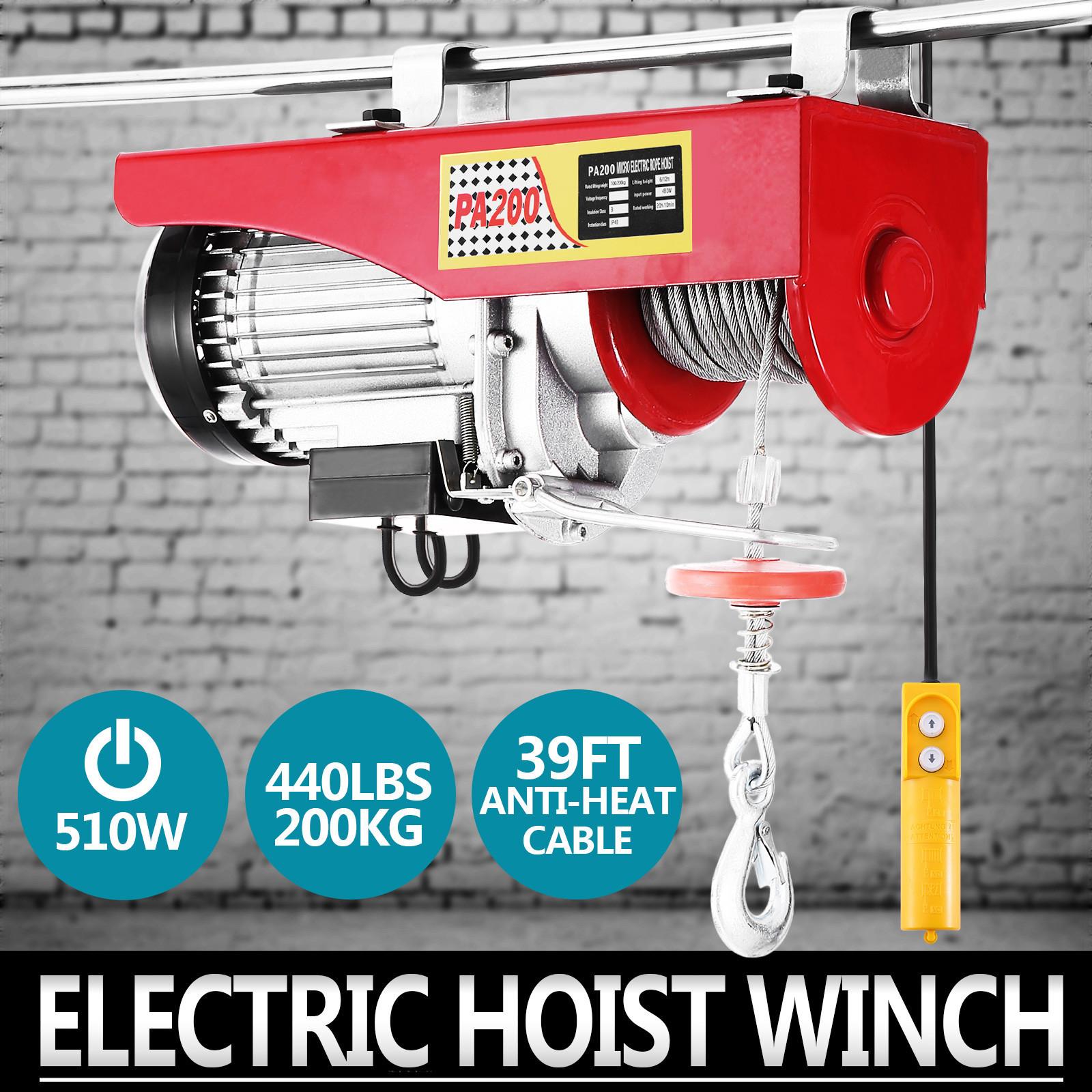 100kg-900kg-Electric-Hoist-Winch-Lifting-Engine-Crane-Cable-Lift-Hook-Garage miniature 13