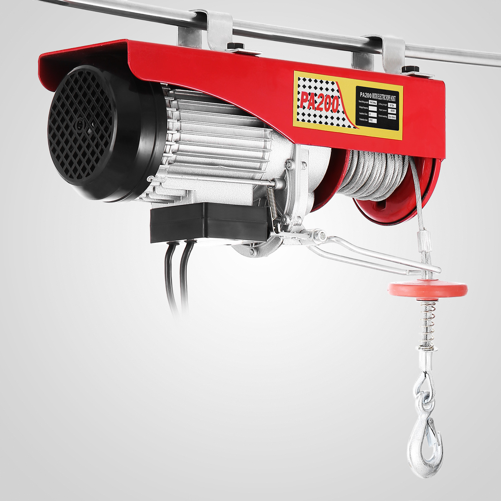 100kg-900kg-Electric-Hoist-Winch-Lifting-Engine-Crane-Cable-Lift-Hook-Garage miniature 17