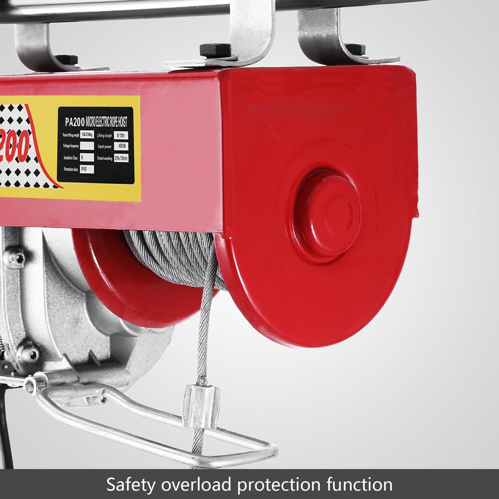 100kg-900kg-Electric-Hoist-Winch-Lifting-Engine-Crane-Cable-Lift-Hook-Garage miniature 19