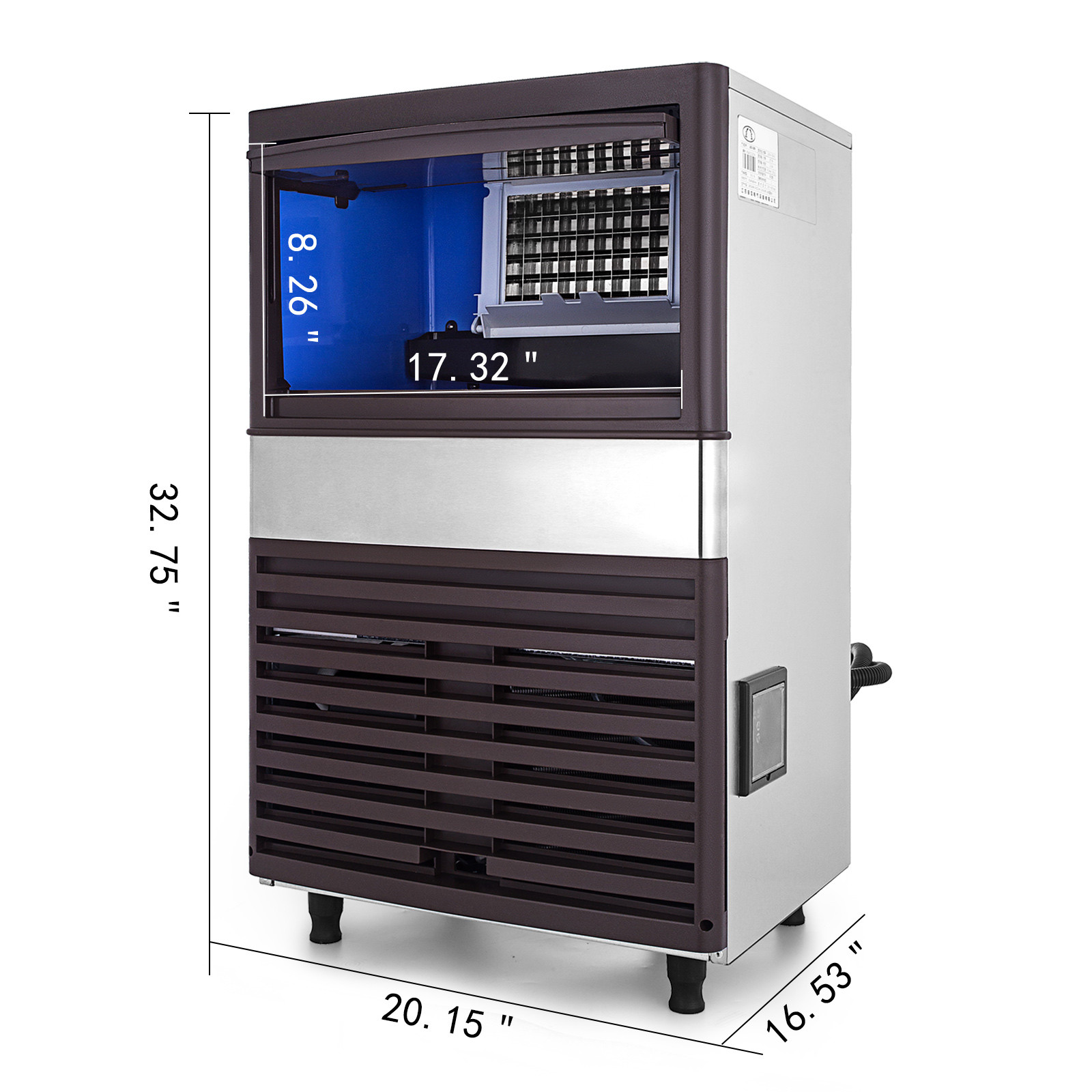 40-55-KG-Intelligent-Ice-Cube-Making-Machine-Bars-Heat-Insulation-Ice-Spoon thumbnail 26