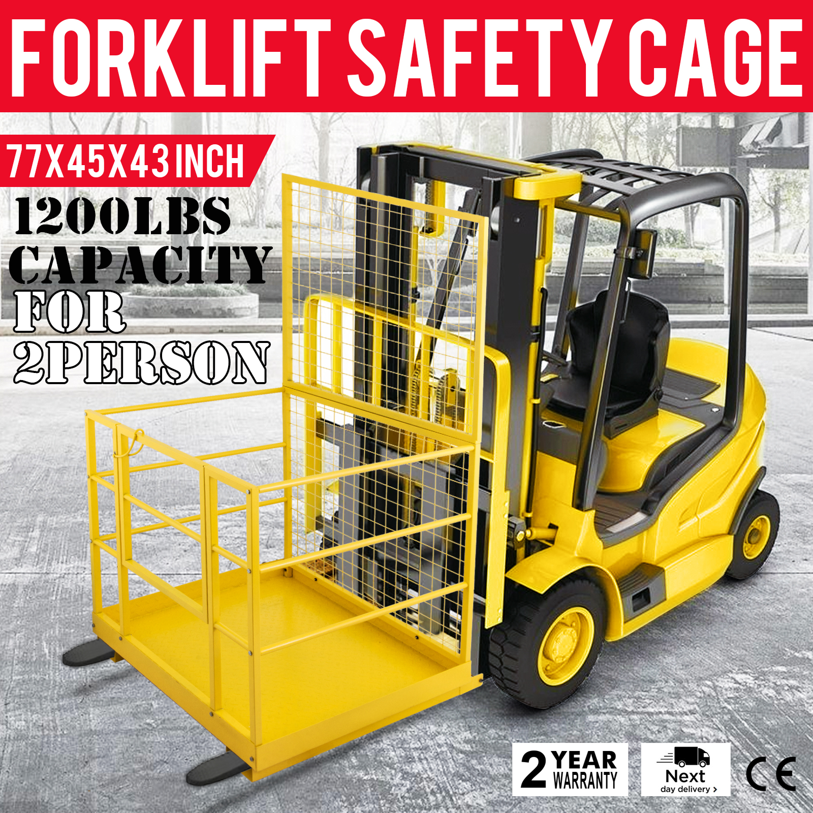 Forklift Safety Cage Work Platform Lift Basket Aerial ...