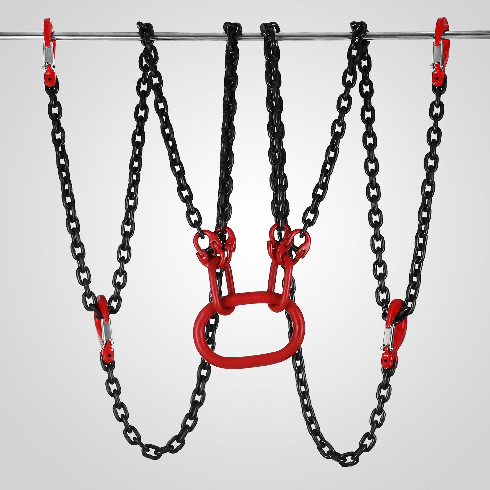 1.5//3//4M Lifting Chain Sling Lifts 5 Ton Forging Trap 1.5M 4:1 High Efficienty