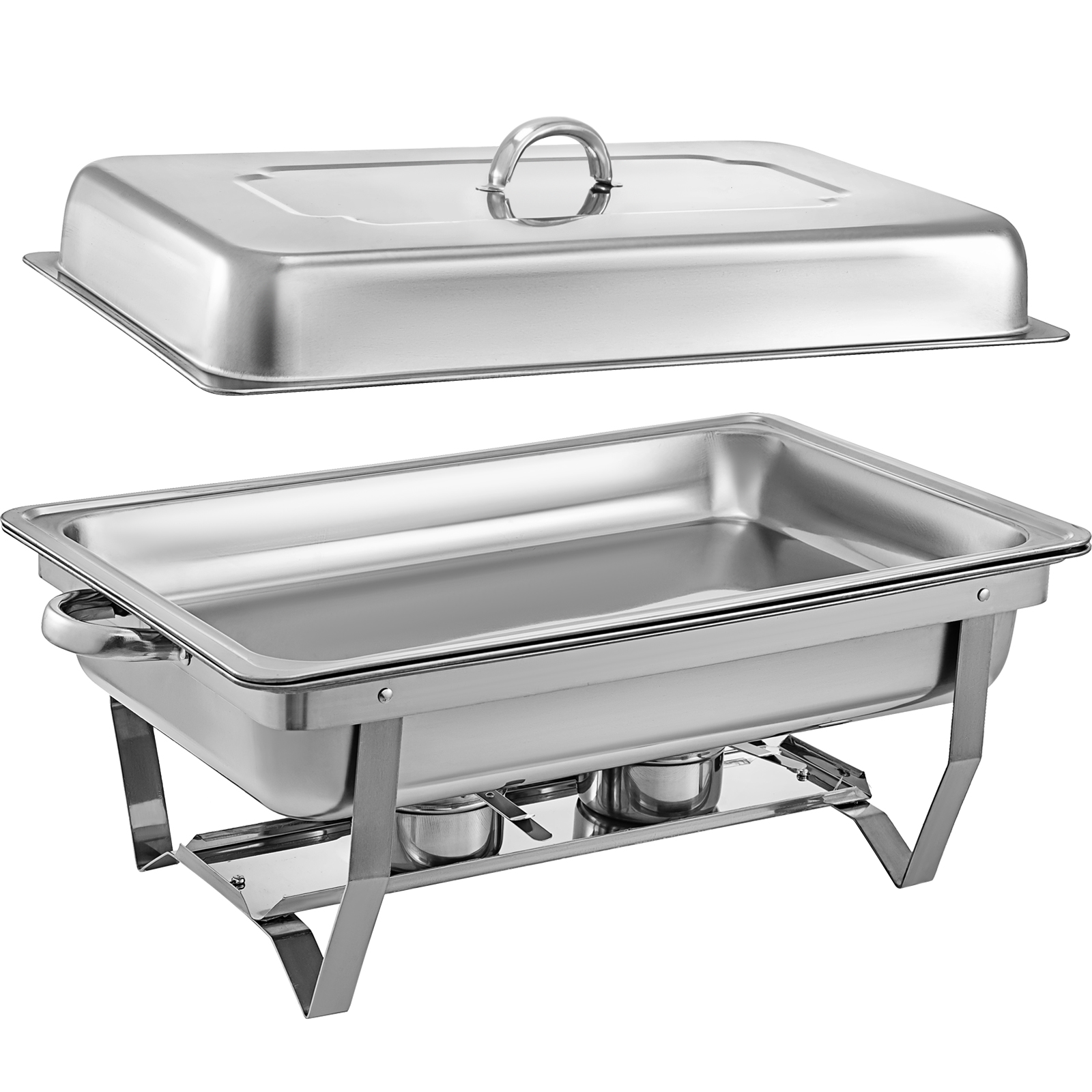 thumbnail 36 - Multi-Stainless-Steel-Chafing-Dish-Bain-Marie-Bow-Catering-Dish-Hotpot-Server