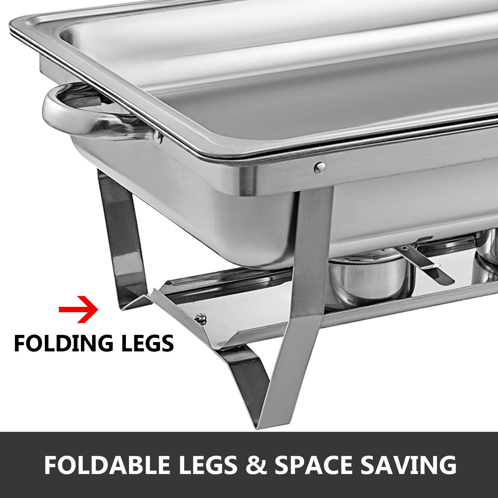 thumbnail 30 - Multi-Stainless-Steel-Chafing-Dish-Bain-Marie-Bow-Catering-Dish-Hotpot-Server