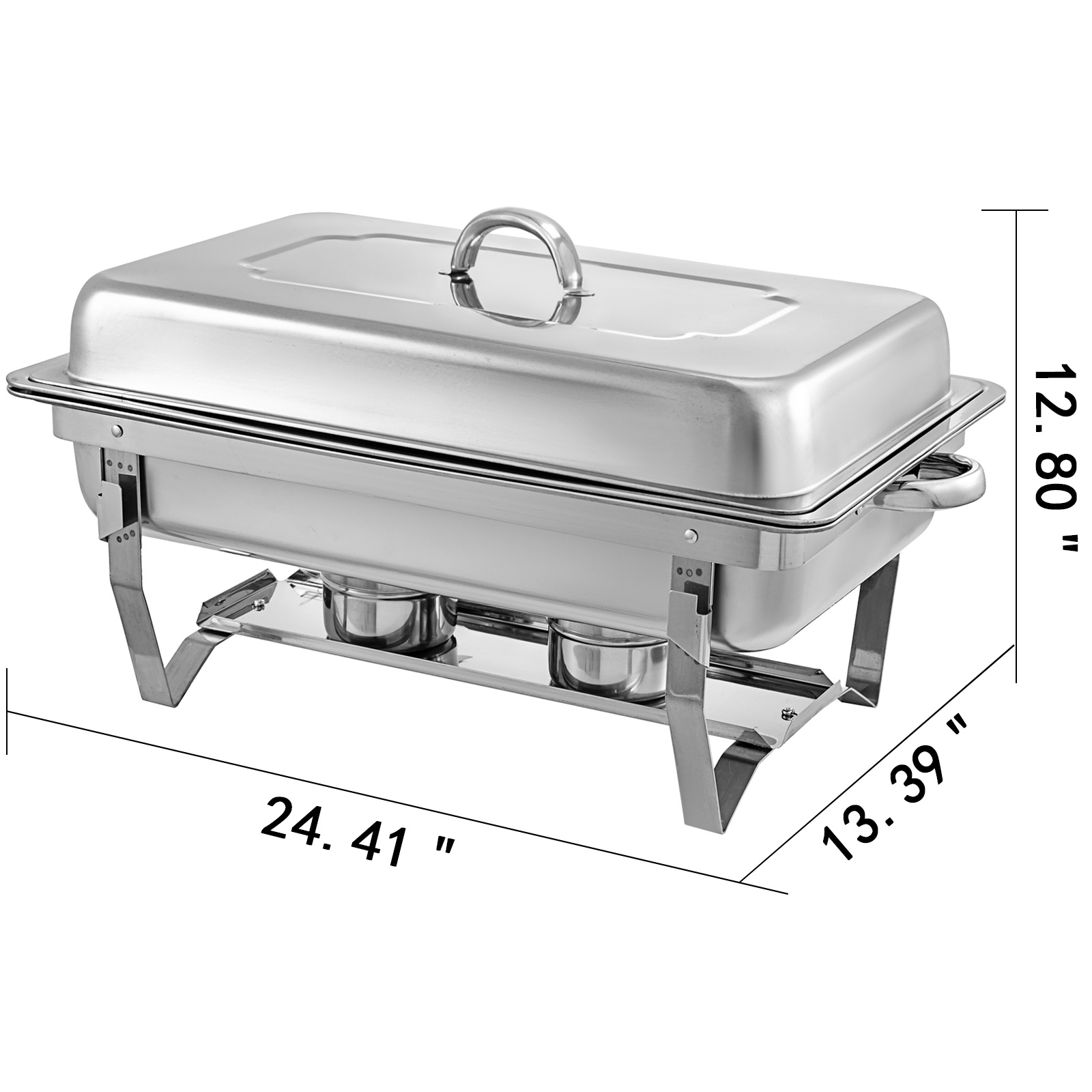 thumbnail 32 - Multi-Stainless-Steel-Chafing-Dish-Bain-Marie-Bow-Catering-Dish-Hotpot-Server