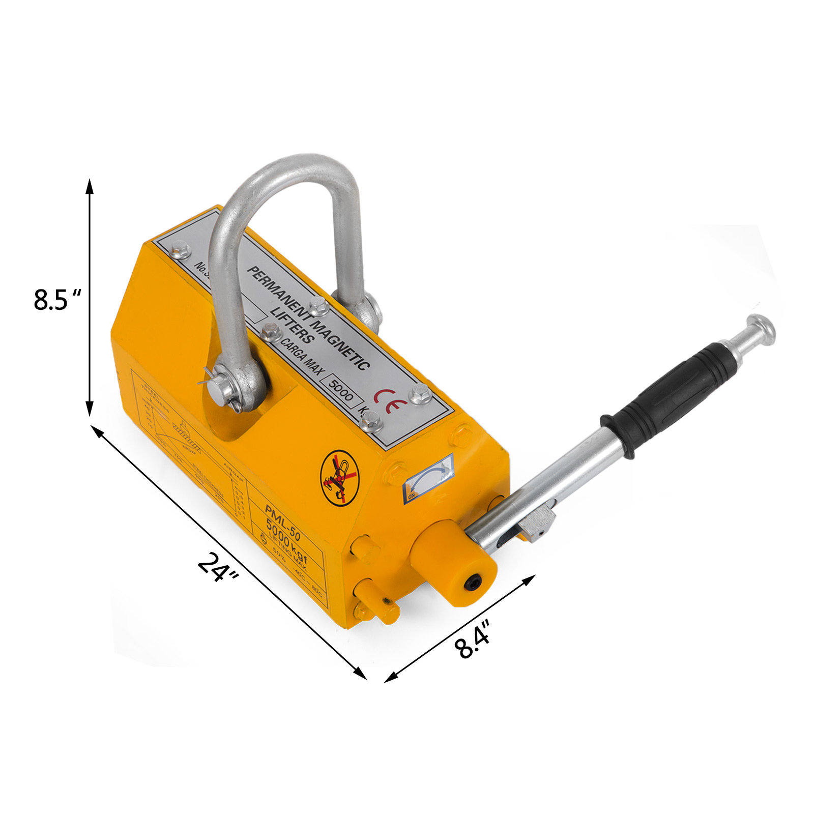 100-300-600-1000KG-Steel-Magnetic-Lifter-Heavy-Duty-Crane-Hoist-Lifting-Magnet miniature 110