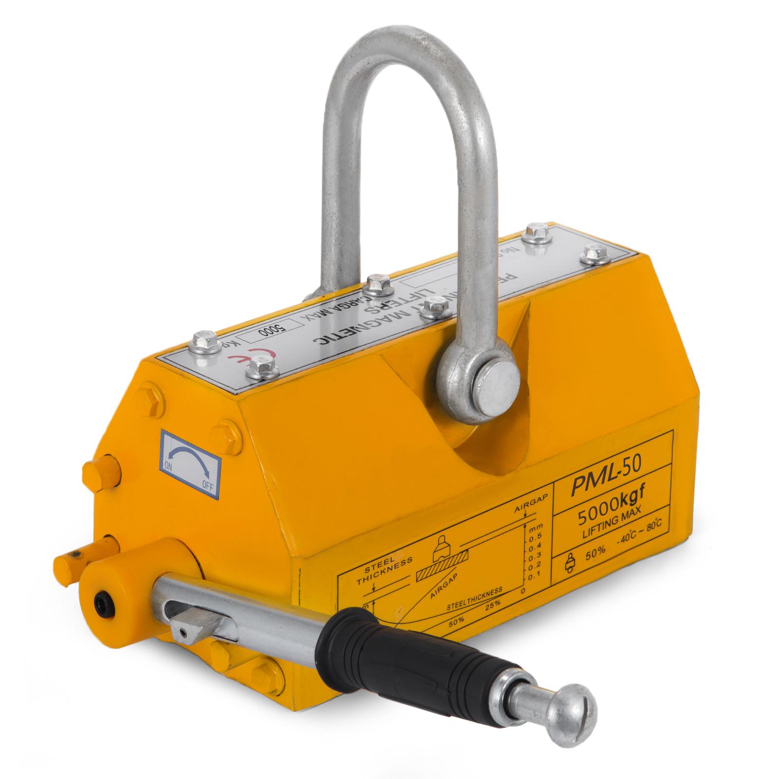 100-300-600-1000KG-Steel-Magnetic-Lifter-Heavy-Duty-Crane-Hoist-Lifting-Magnet miniature 112