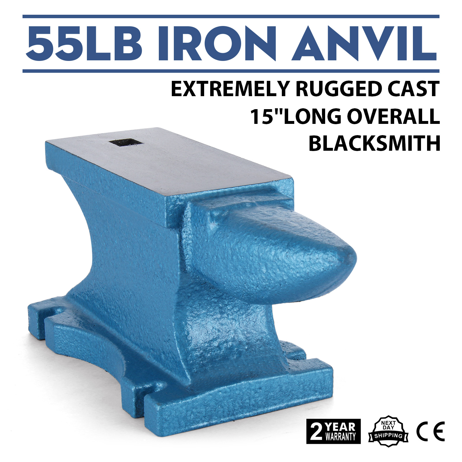55LB Iron Anvil Extremely Rugged Cast Blacksmith Silversmith Local Tools Smooth