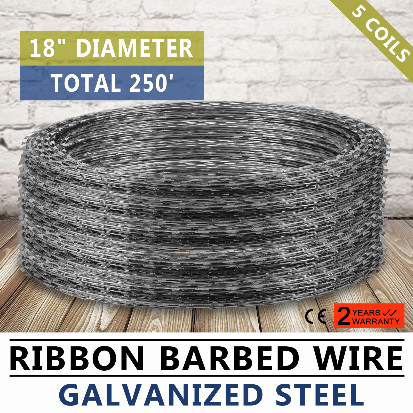 RAZOR / HELICAL BARBED WIRE GALVANIZED STEEL 18\