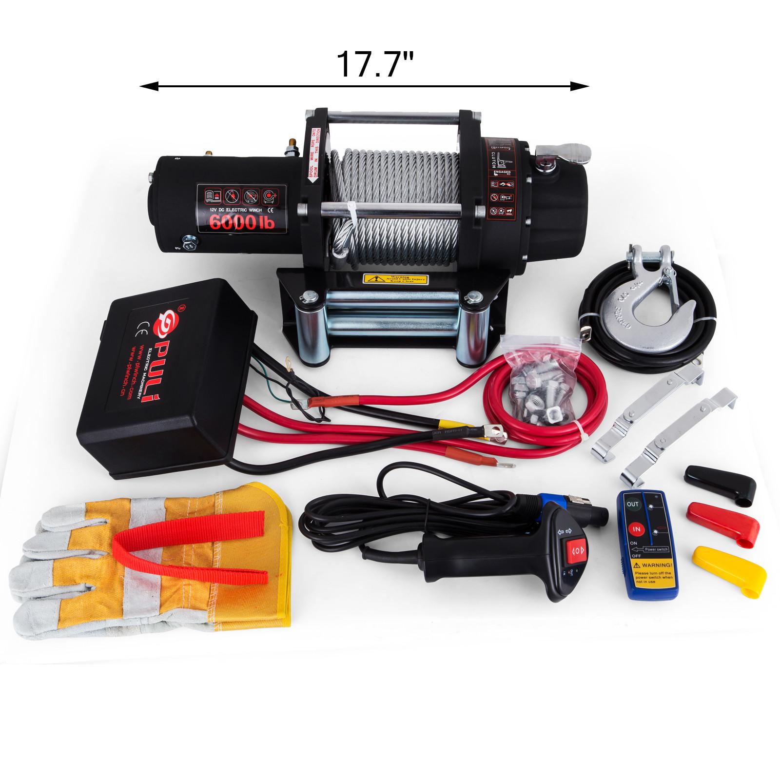 3000-4000-6000-13500LBS-12V-Verricello-elettrico-Filo-Auto-Suv miniatura 38