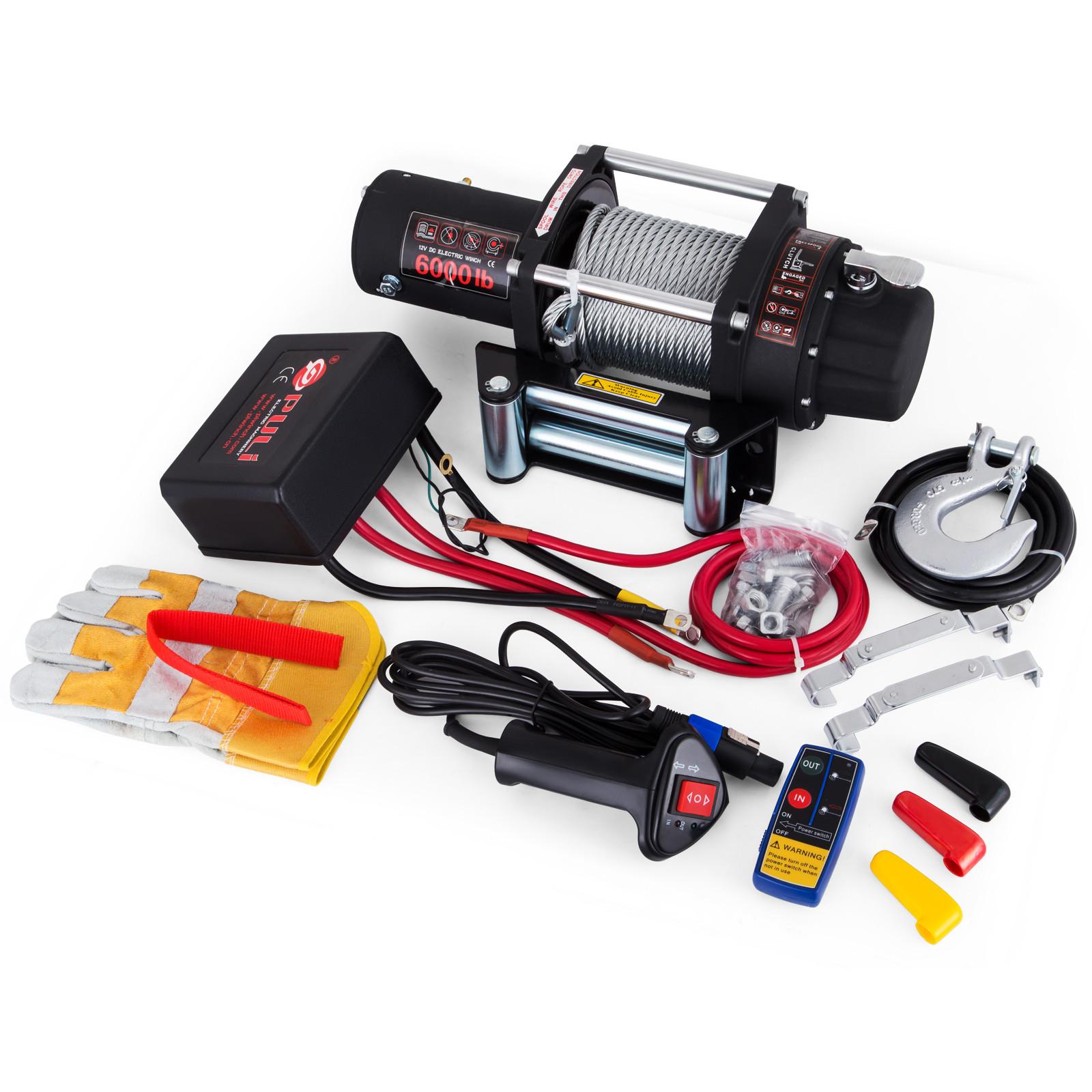 3000-4000-6000-13500LBS-12V-Verricello-elettrico-Filo-Auto-Suv miniatura 40