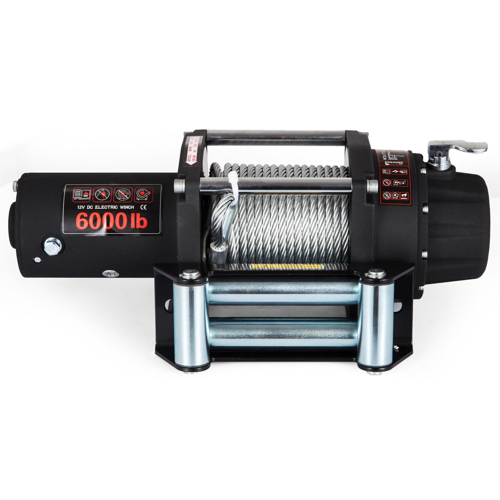 3000-4000-6000-13500LBS-12V-Verricello-elettrico-Filo-Auto-Suv miniatura 41