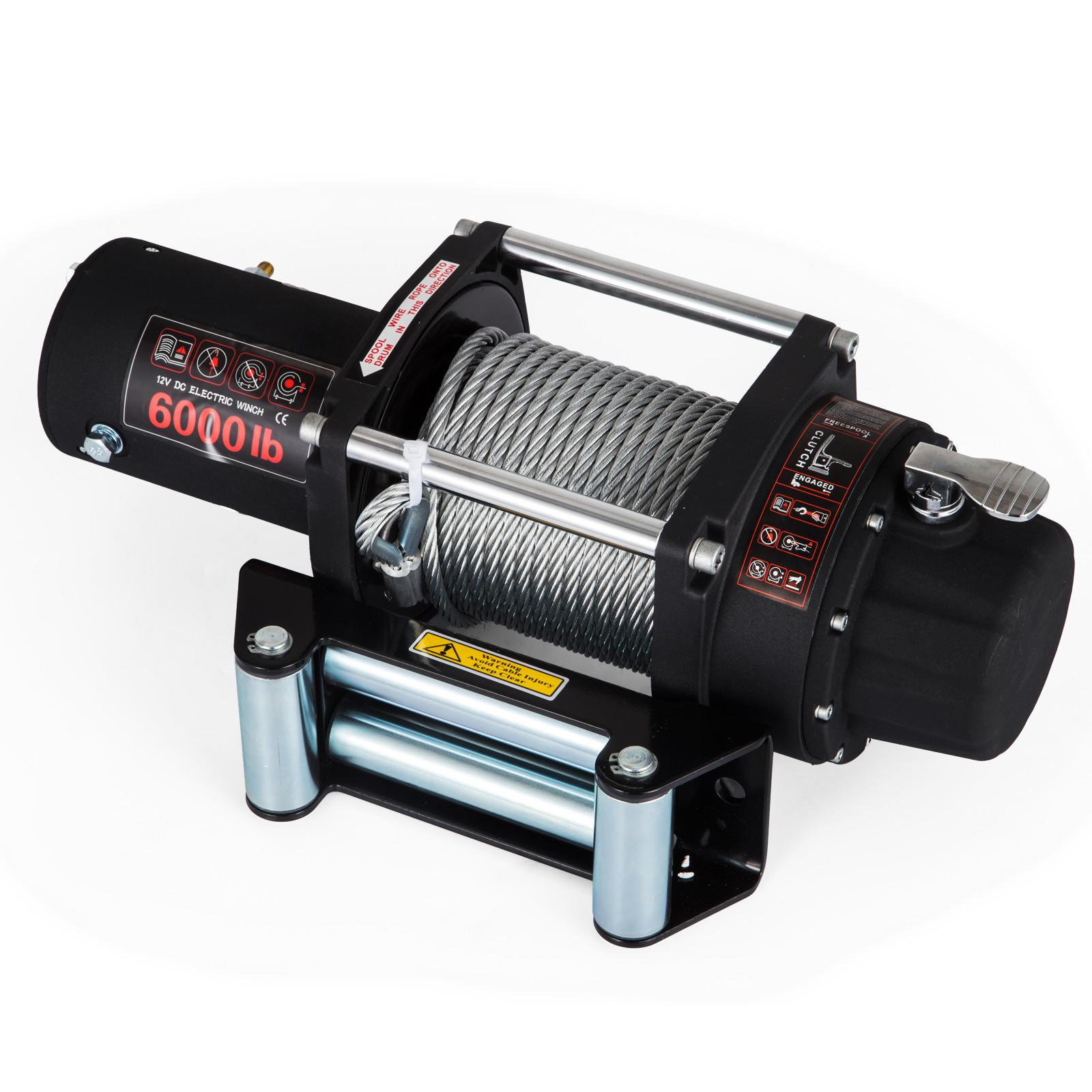 3000-4000-6000-13500LBS-12V-Verricello-elettrico-Filo-Auto-Suv miniatura 42