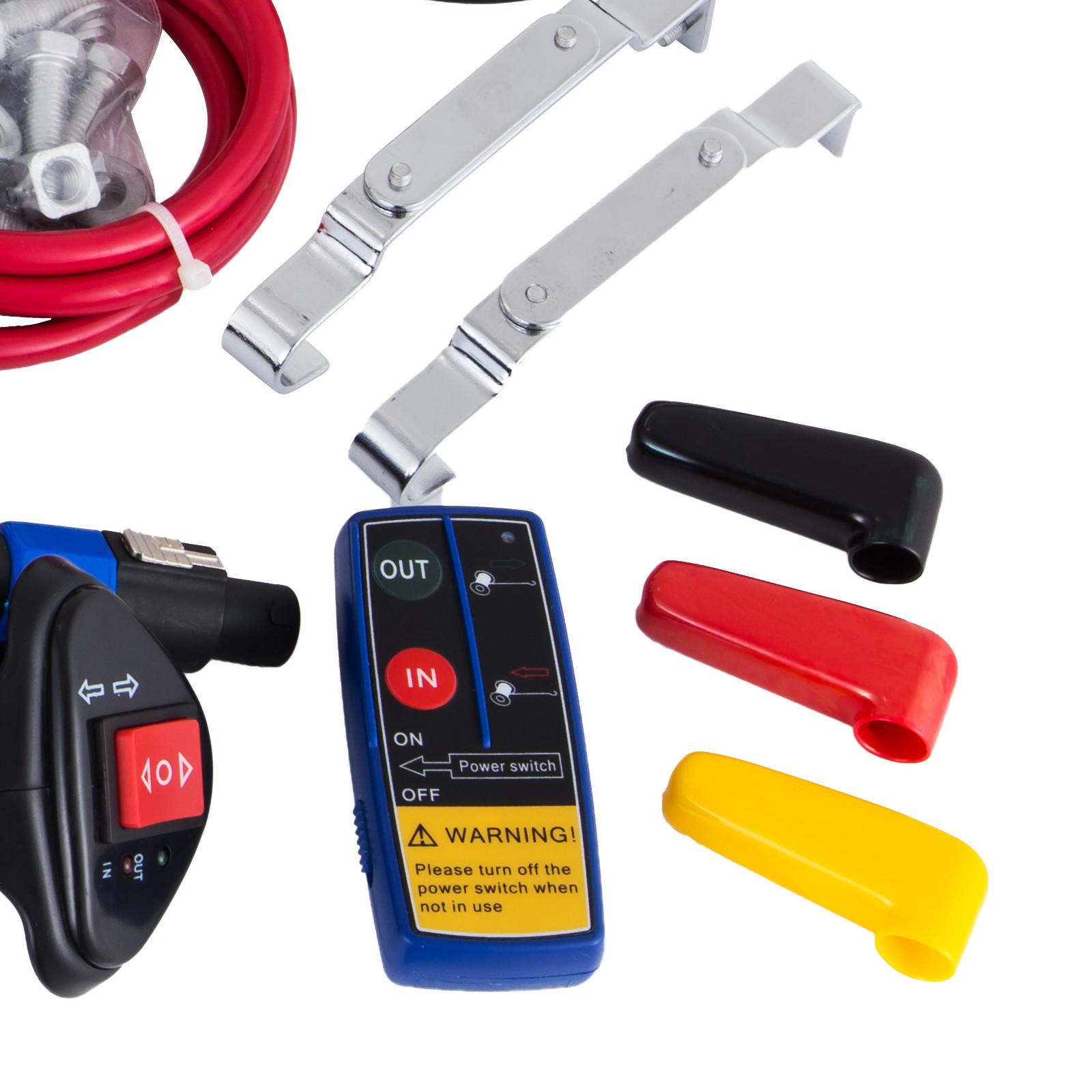 3000-4000-6000-13500LBS-12V-Verricello-elettrico-Filo-Auto-Suv miniatura 43