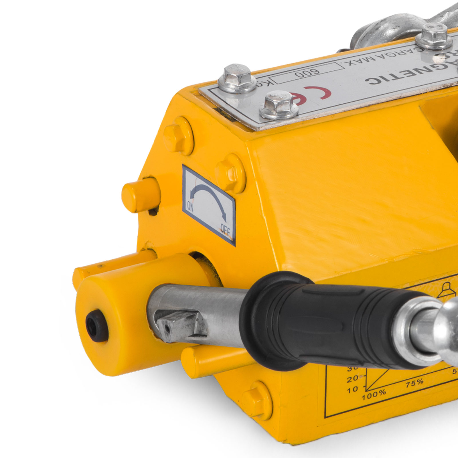 100-300-600-1000KG-Steel-Magnetic-Lifter-Heavy-Duty-Crane-Hoist-Lifting-Magnet miniature 60