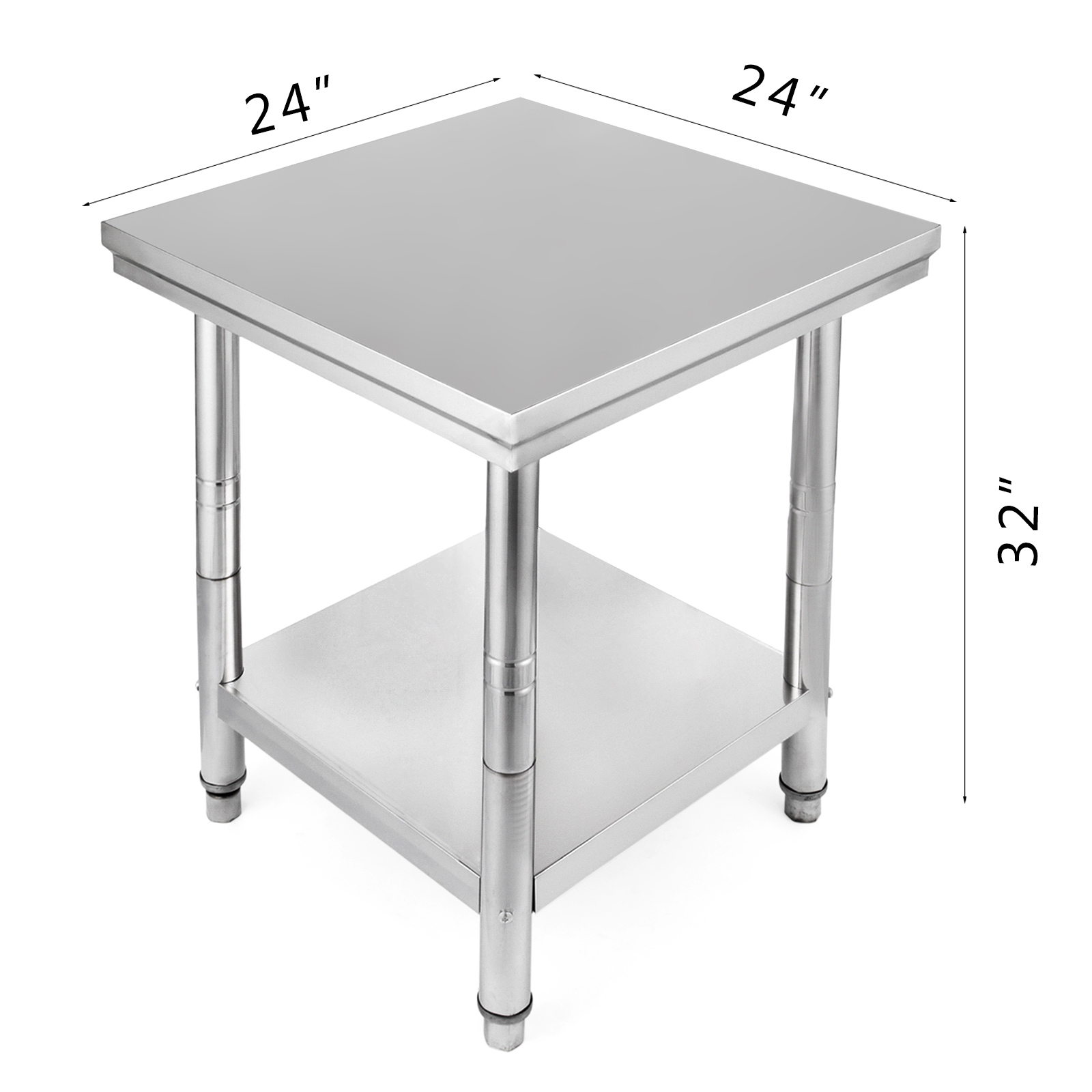 table de travail neuve plan de travail professionnel avec etagere inox 60x60 ebay. Black Bedroom Furniture Sets. Home Design Ideas