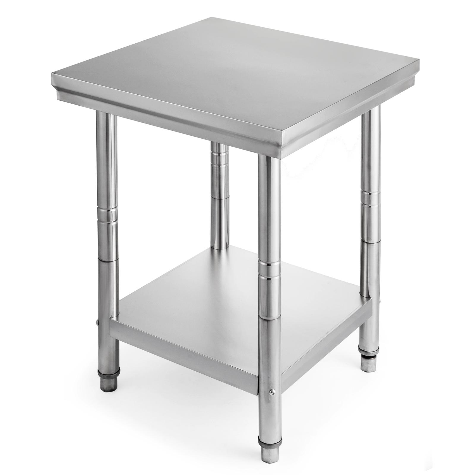 edelstahl arbeitstisch gastro tisch edelstahltisch k chentisch gastronom 60x60 ebay. Black Bedroom Furniture Sets. Home Design Ideas