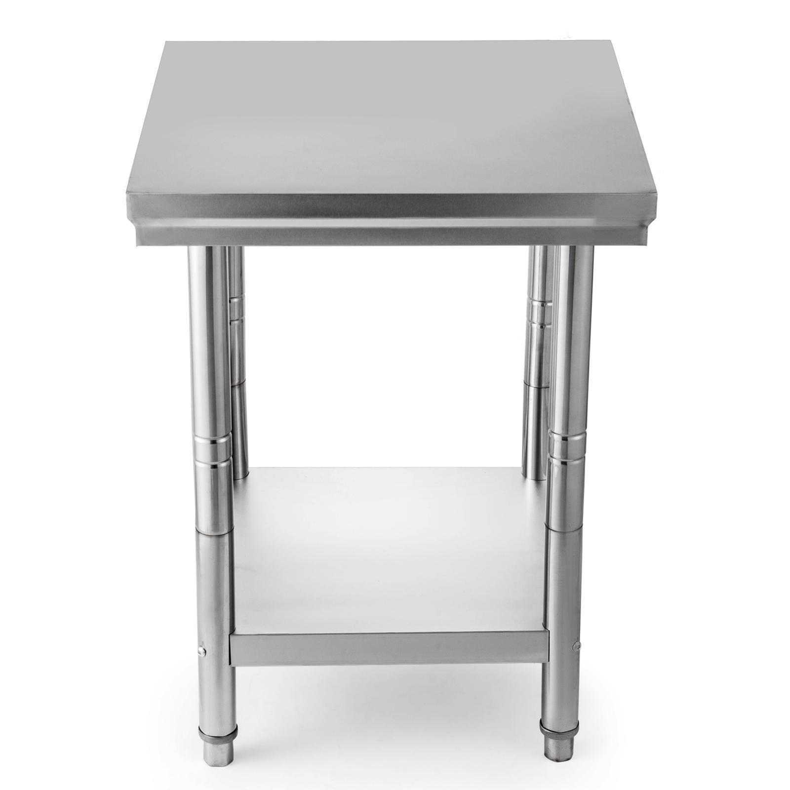 table acier inox plan travail restauration 60 x 60 cm. Black Bedroom Furniture Sets. Home Design Ideas