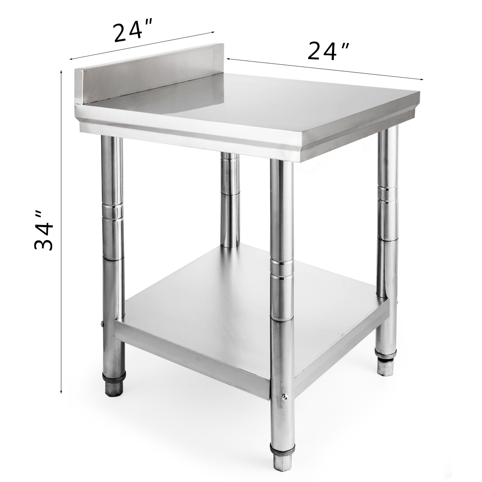 "Stainless Steel Kitchen Work Table: 24"" X 24"" Stainless Steel Kitchen Work Table Commercial"