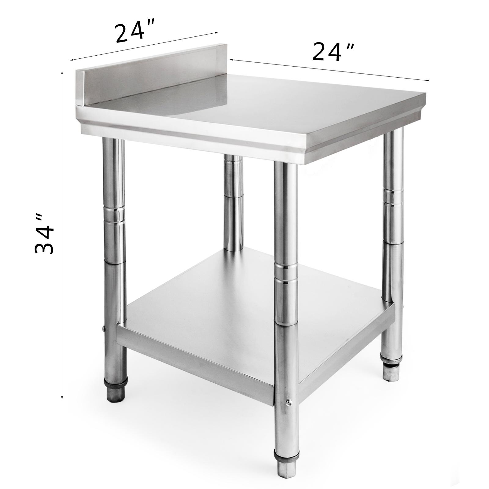 24 X 24 Stainless Steel Kitchen Work Table Commercial Kitchen Restaurant 2472 Ebay