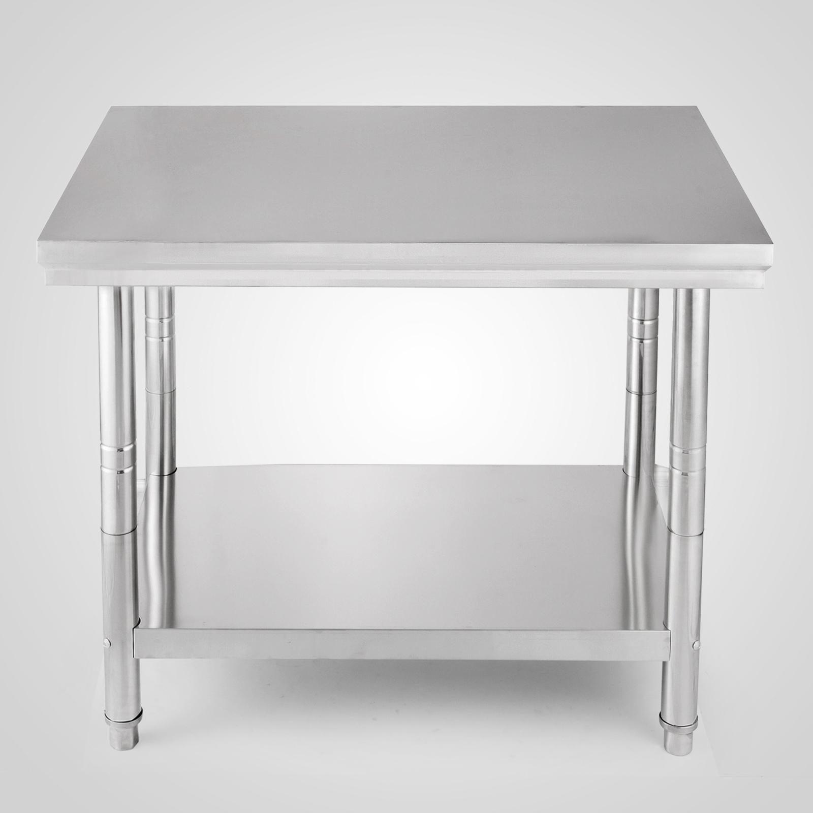 80cm hauteur table de travail inox table de cuisine for Hauteur de table de cuisine