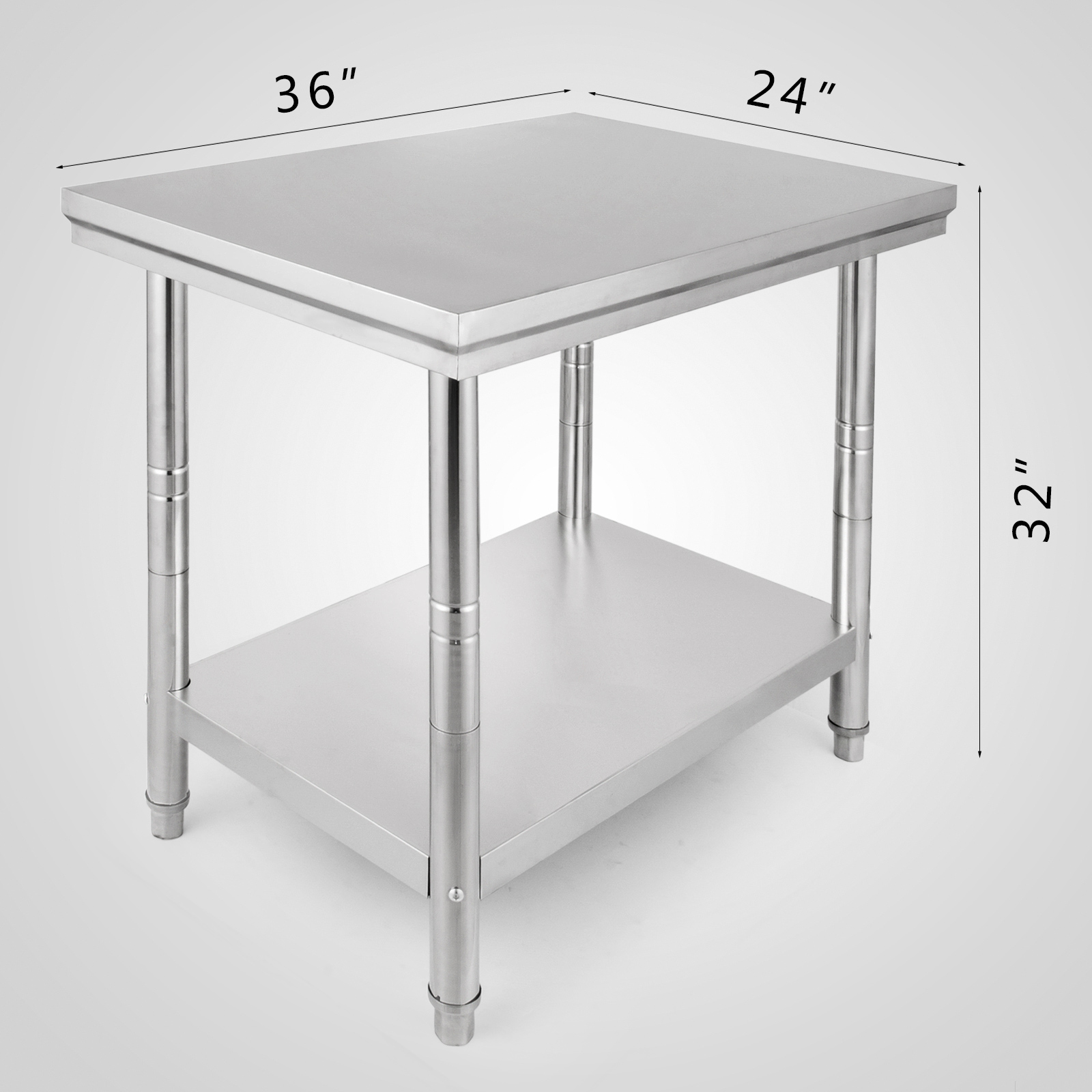 Stainless Steel Catering Table Work Bench Kitchen Back