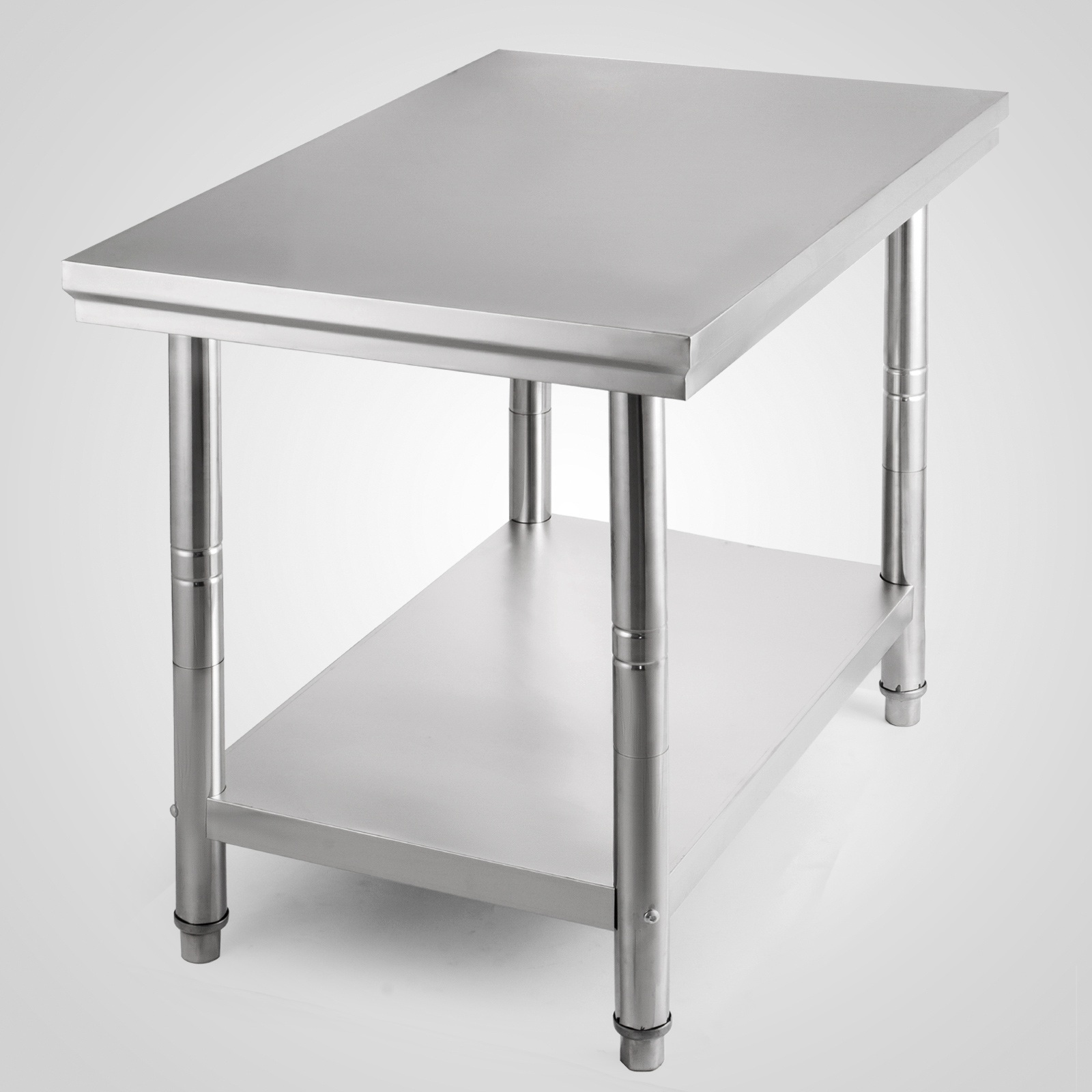 all size commercial stainless steel kitchen work bench food prep table top ebay. Black Bedroom Furniture Sets. Home Design Ideas