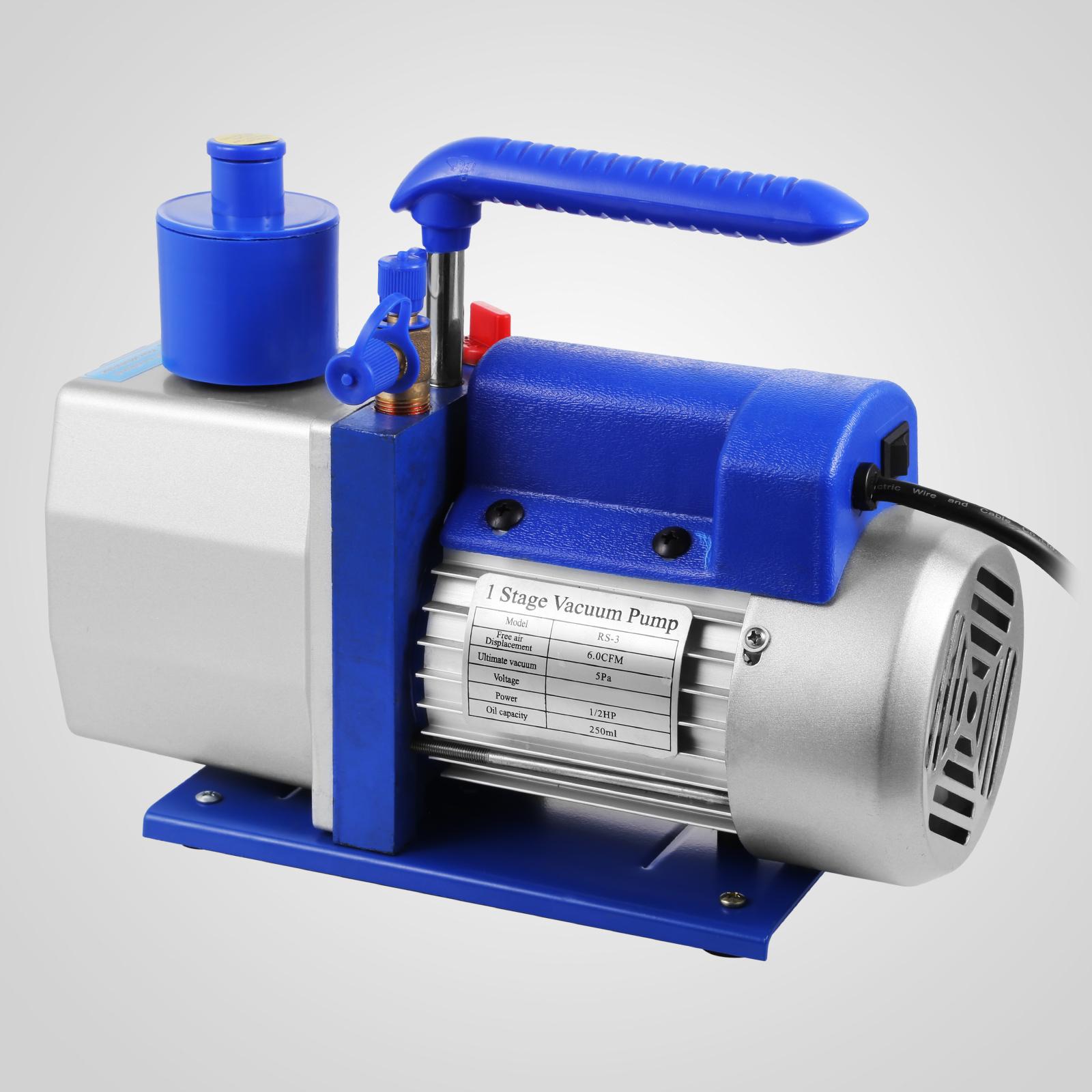 thumbnail 29 - 1-8CFM-3CFM-6CFM-9CFM-Refrigeration-Vacuum-Pump-1-Stage-HVAC-Air-Conditioning