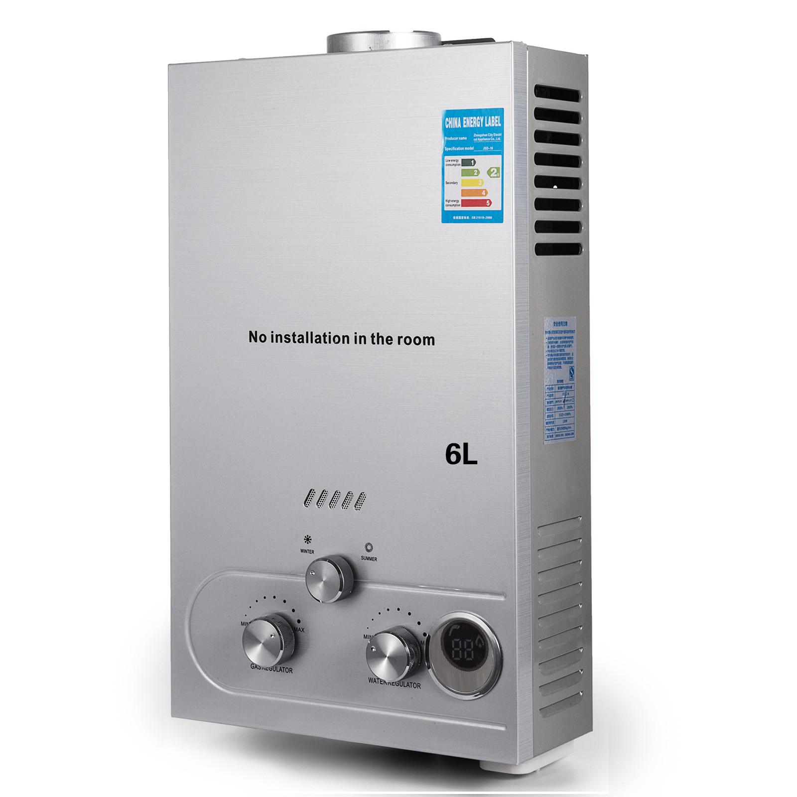 Propangas-Gas-Durchlauferhitzer-Warmwasserbereiter-Boiler-Warmwasserspeicher Indexbild 27