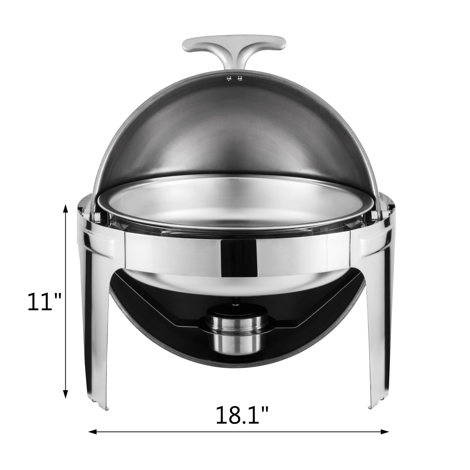 thumbnail 116 - Multi-Stainless-Steel-Chafing-Dish-Bain-Marie-Bow-Catering-Dish-Hotpot-Server