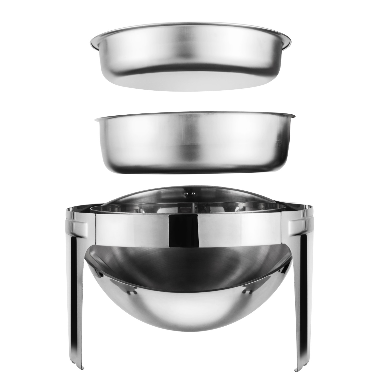 thumbnail 117 - Multi-Stainless-Steel-Chafing-Dish-Bain-Marie-Bow-Catering-Dish-Hotpot-Server