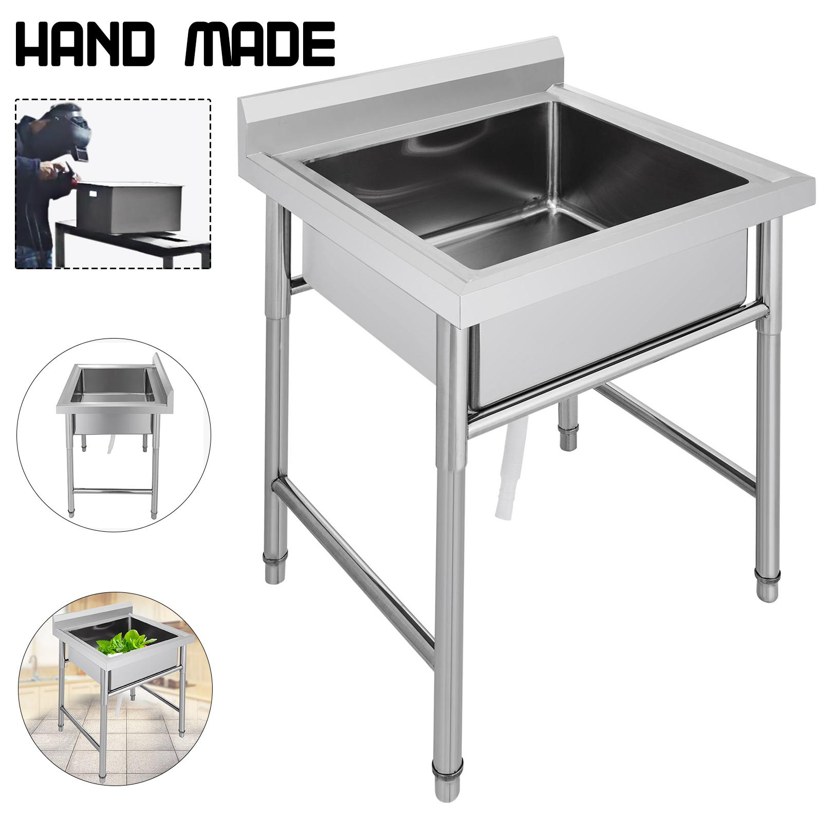 Edelstahl Gastro Spültisch 1,2,3 Becken Waschtisch Spülbecken Waschbecken Küchen