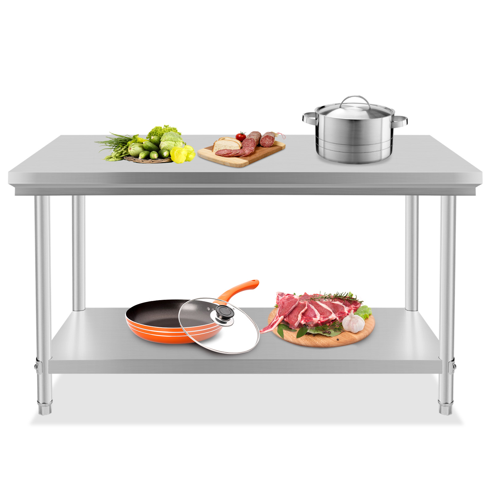 kitchen prep table stainless steel kitchen work prep table 30 quot x 13287