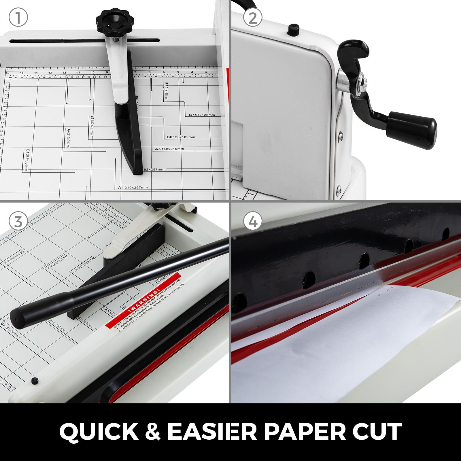 12IN 300 Feuilles A4 Robuste Usage Commercial Papier Coupe-Papier Guillotine Coupe-Papier De Base Pour Pile De Bureau Chrisun Massicot 30CM
