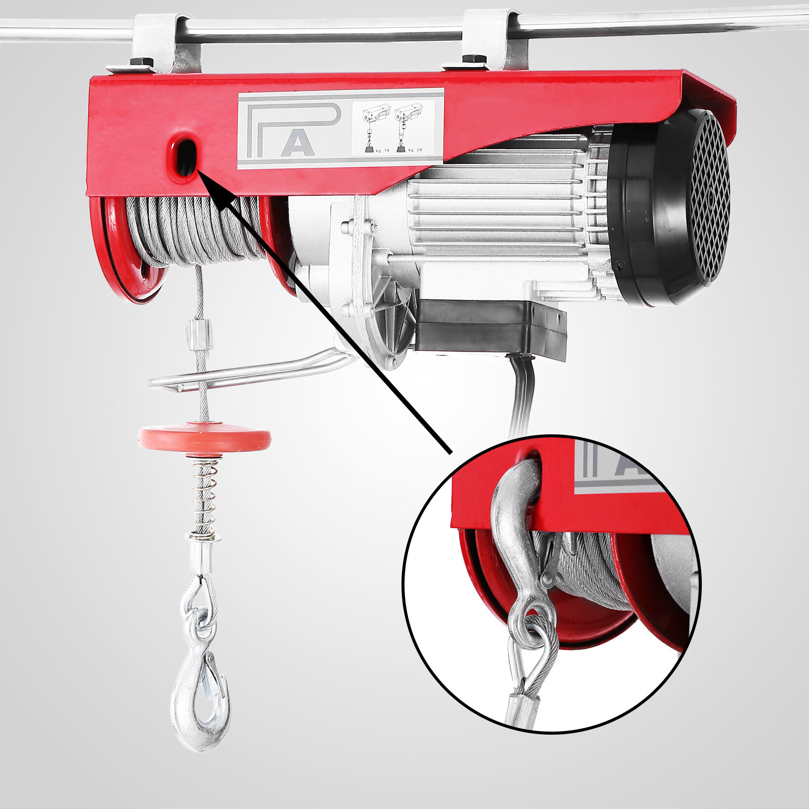 100kg-900kg-Electric-Hoist-Winch-Lifting-Engine-Crane-Cable-Lift-Hook-Garage miniature 36