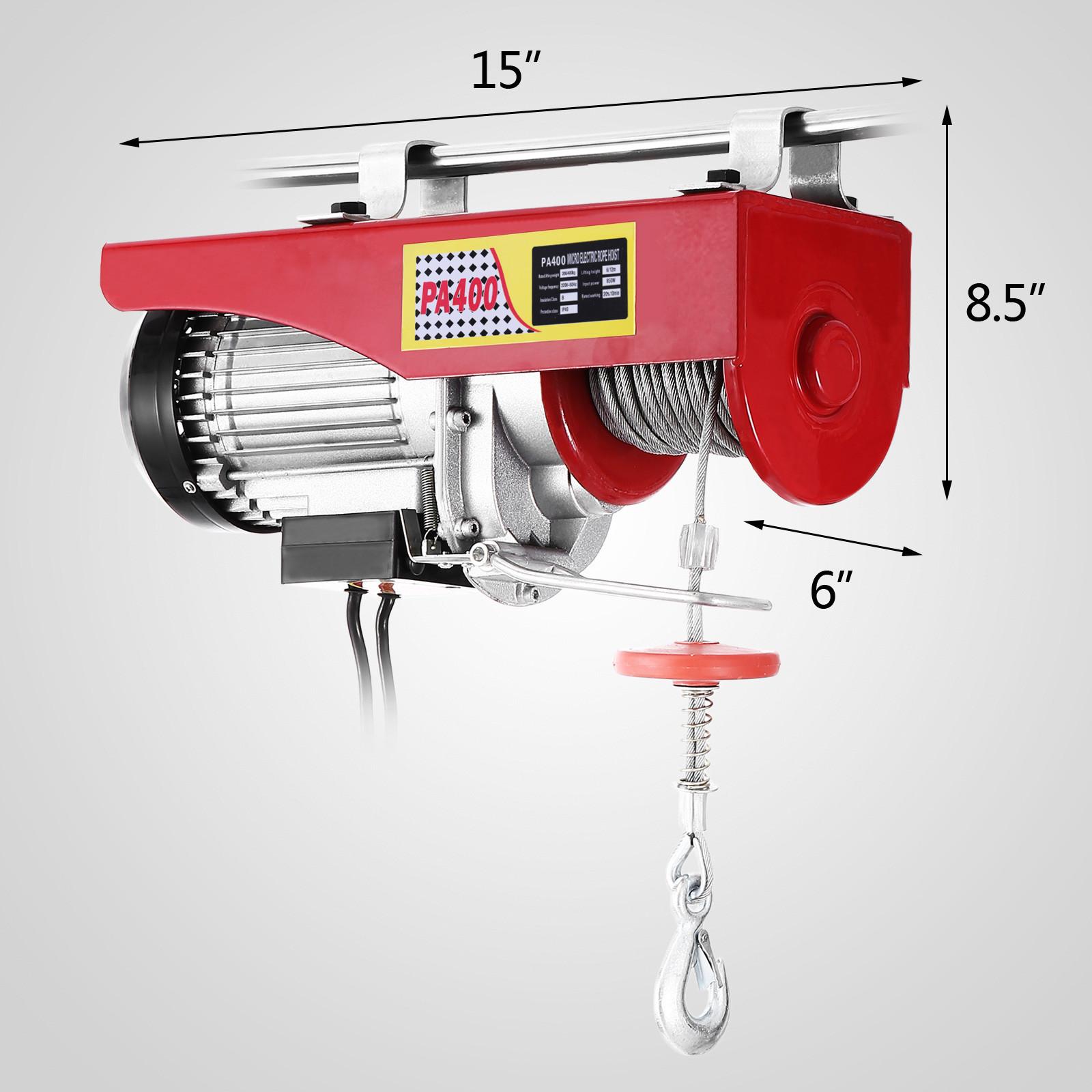 100kg-900kg-Electric-Hoist-Winch-Lifting-Engine-Crane-Cable-Lift-Hook-Garage miniature 26