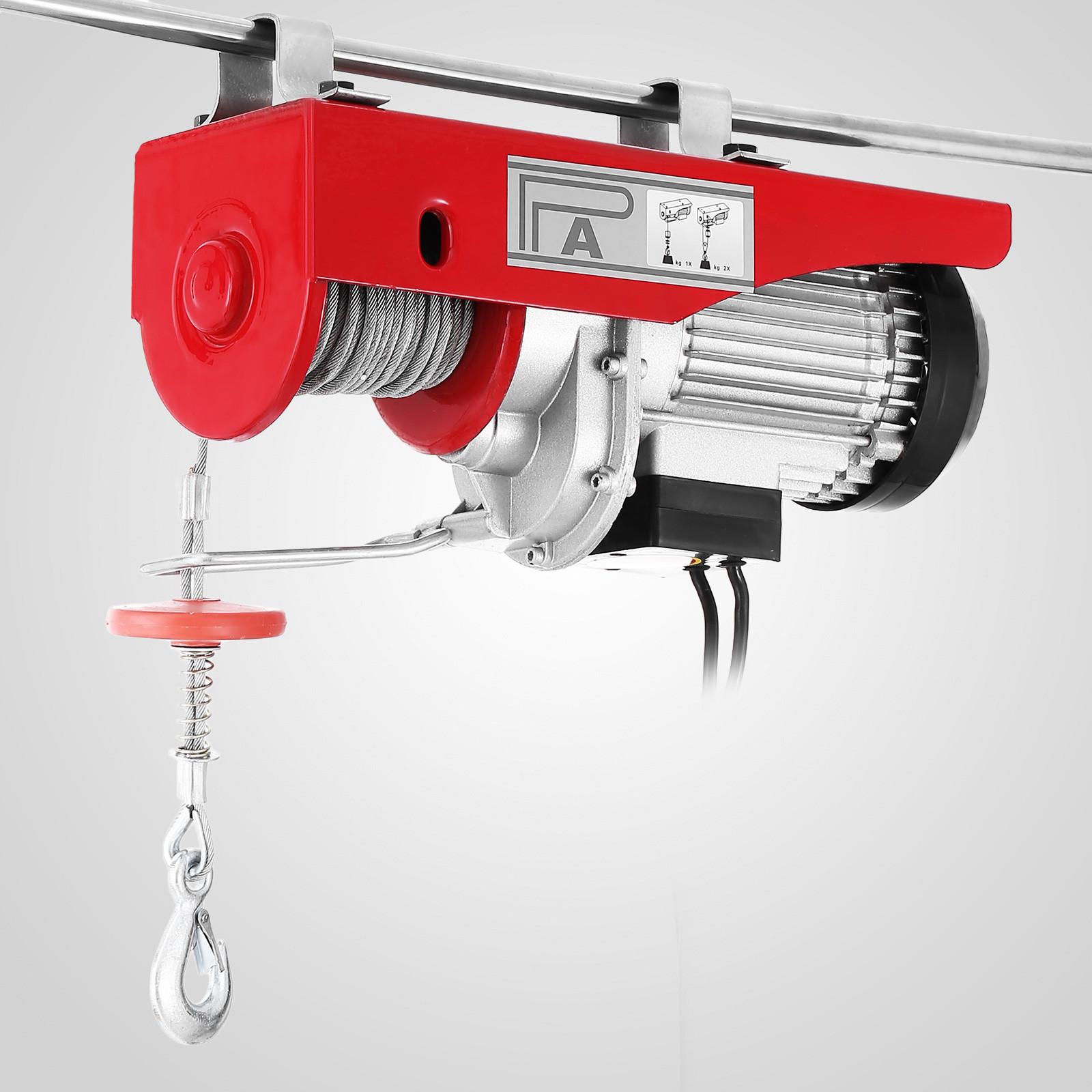 100kg-900kg-Electric-Hoist-Winch-Lifting-Engine-Crane-Cable-Lift-Hook-Garage miniature 30