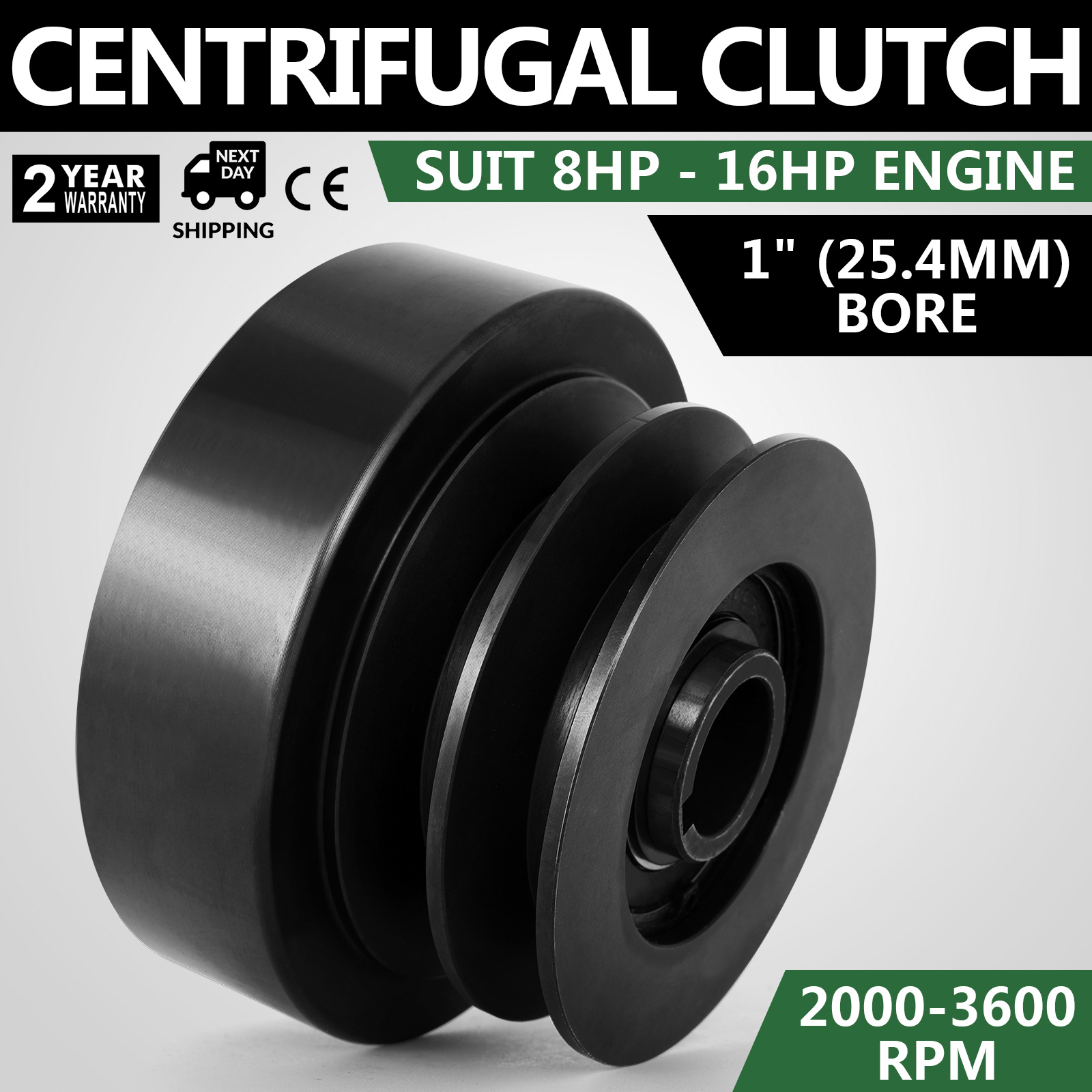 """Centrifugal Dry Clutch 25.4mm 1/"""" 11 Tooth 428 Pitch 1600 series 8-18HP engine"""