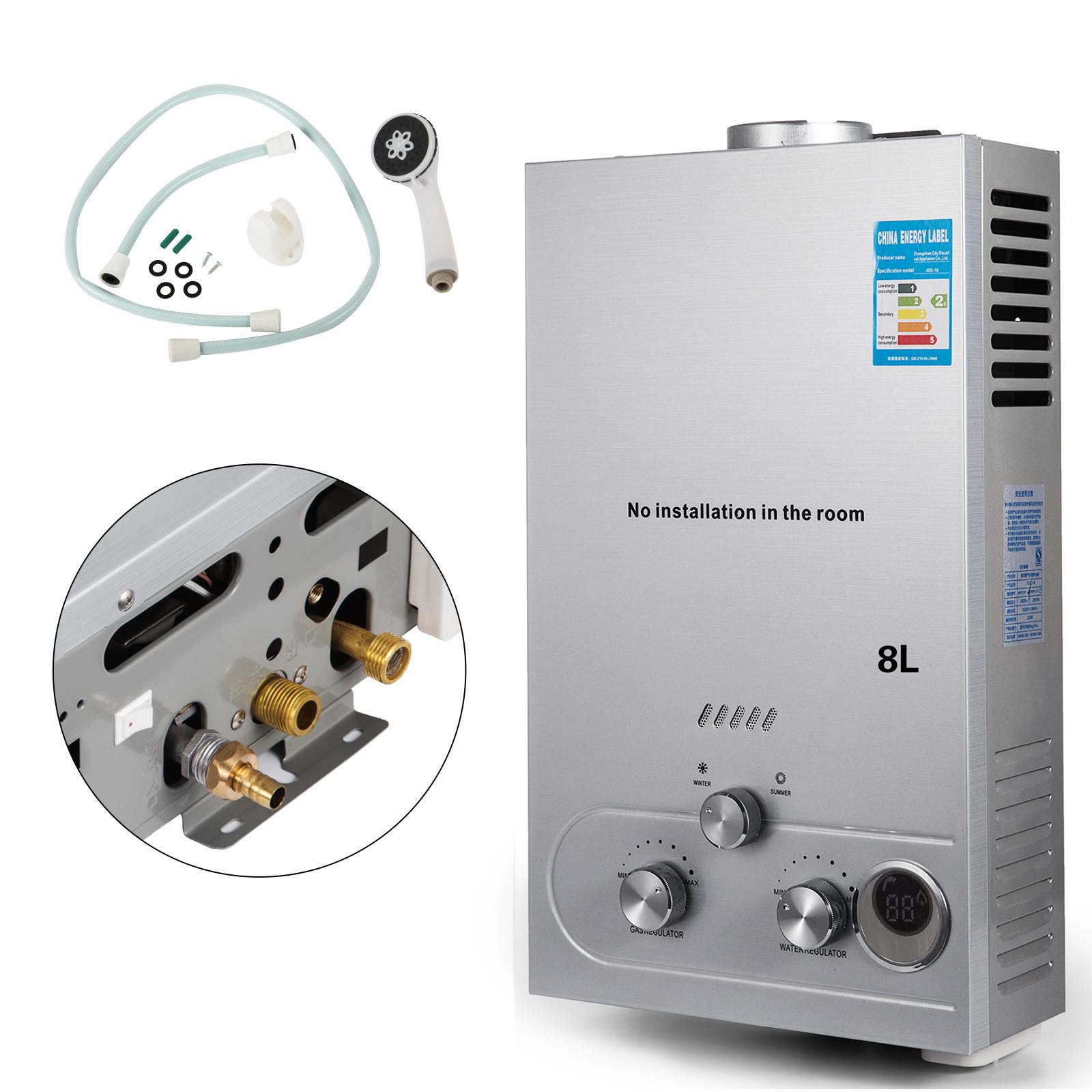 Propangas-Gas-Durchlauferhitzer-Warmwasserbereiter-Boiler-Warmwasserspeicher Indexbild 47
