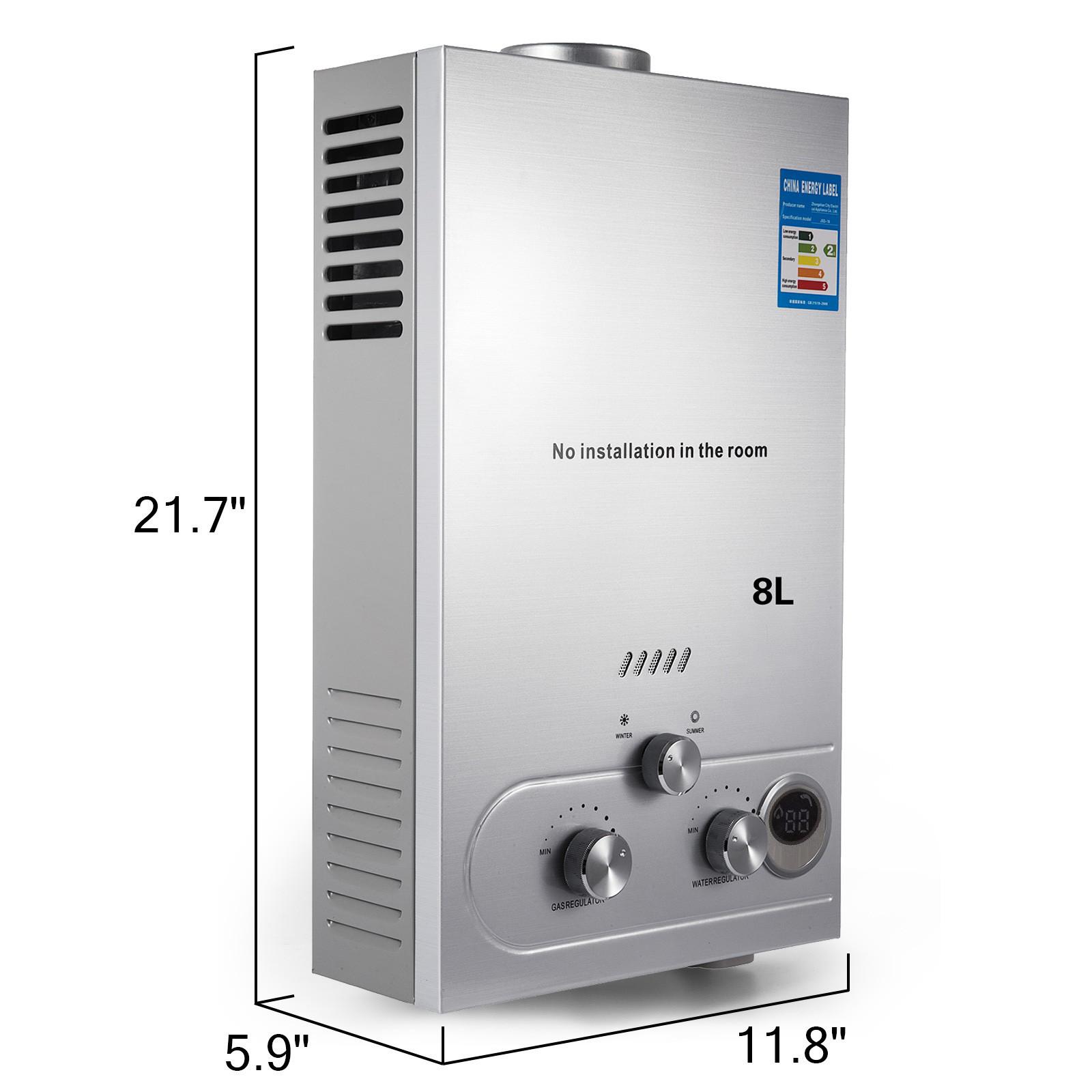 Propangas-Gas-Durchlauferhitzer-Warmwasserbereiter-Boiler-Warmwasserspeicher Indexbild 38