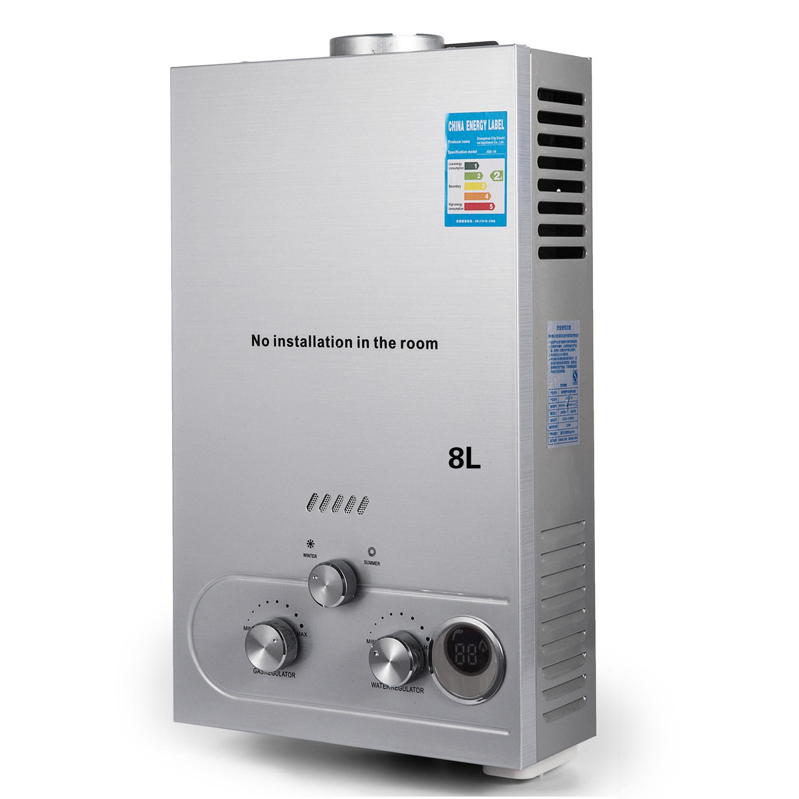Propangas-Gas-Durchlauferhitzer-Warmwasserbereiter-Boiler-Warmwasserspeicher Indexbild 39