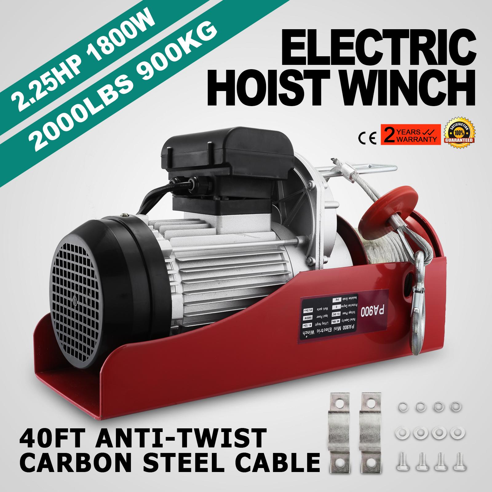 100kg-900kg-Electric-Hoist-Winch-Lifting-Engine-Crane-Cable-Lift-Hook-Garage miniature 61