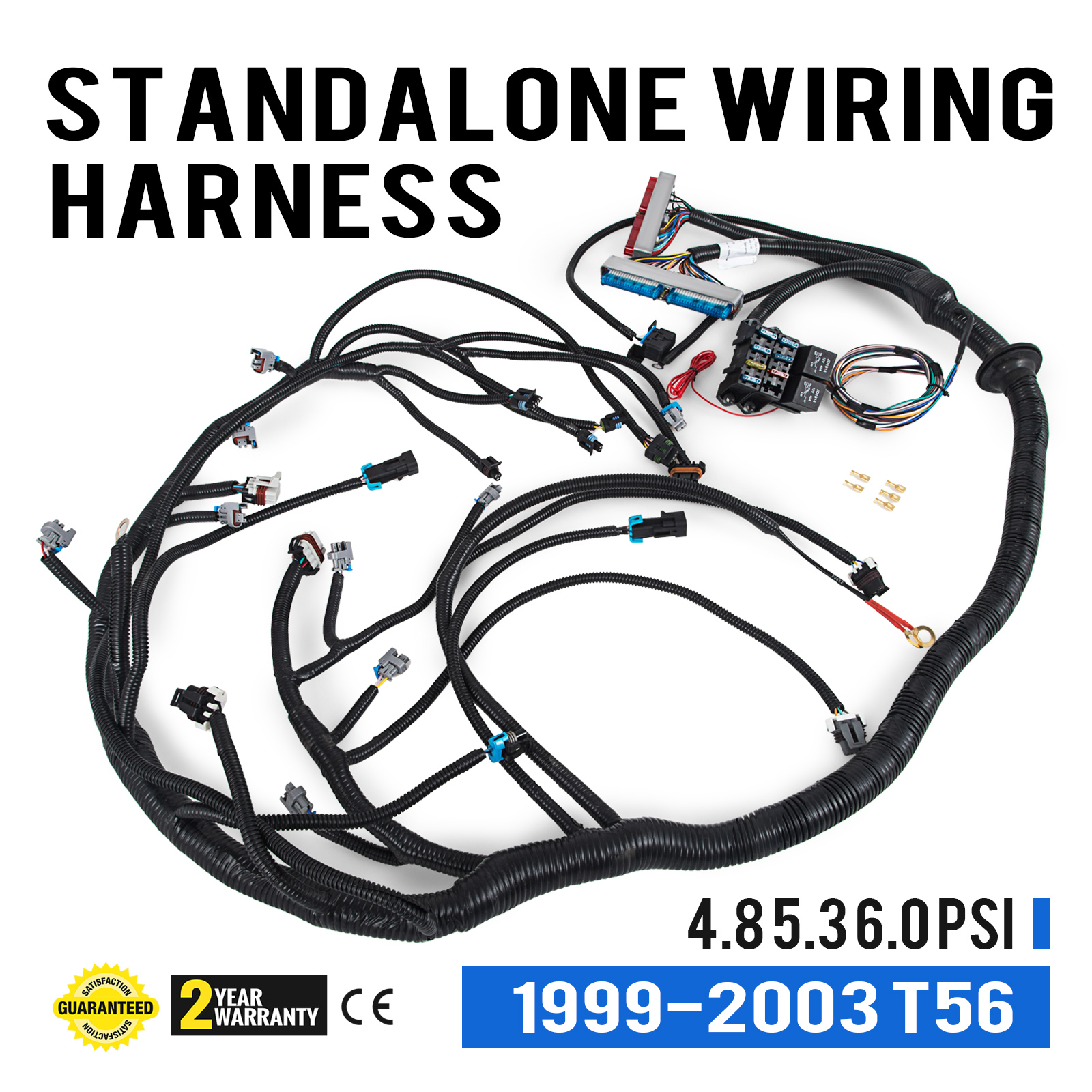 Nice 1999 2003 Dbc Ls1 Standalone Wiring Harness With T56 Cxcxz003491524190198