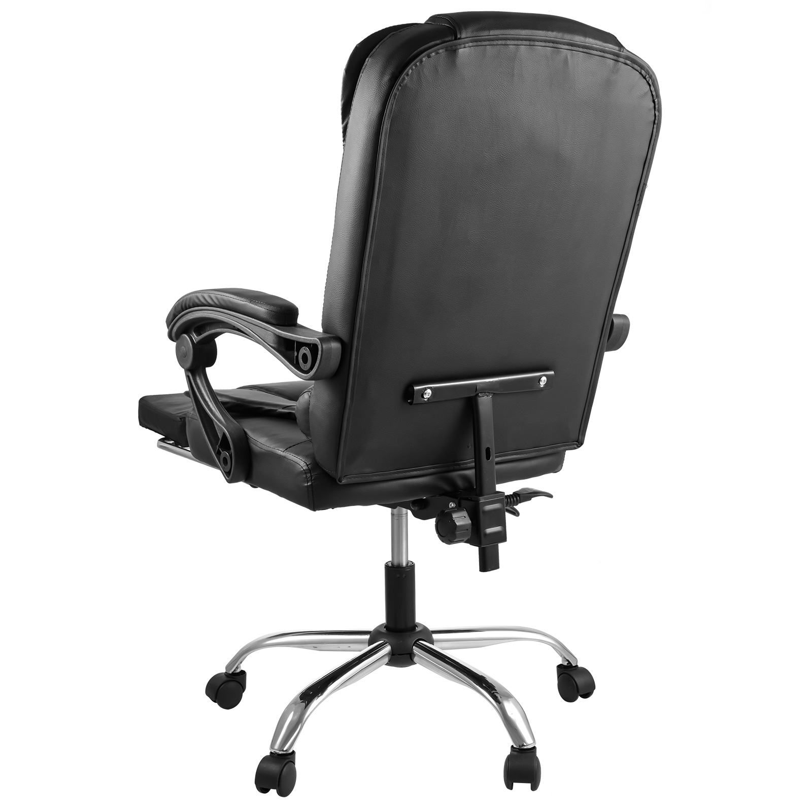 executive reclining office chair ergonomic high back leather footrest armchair ebay. Black Bedroom Furniture Sets. Home Design Ideas