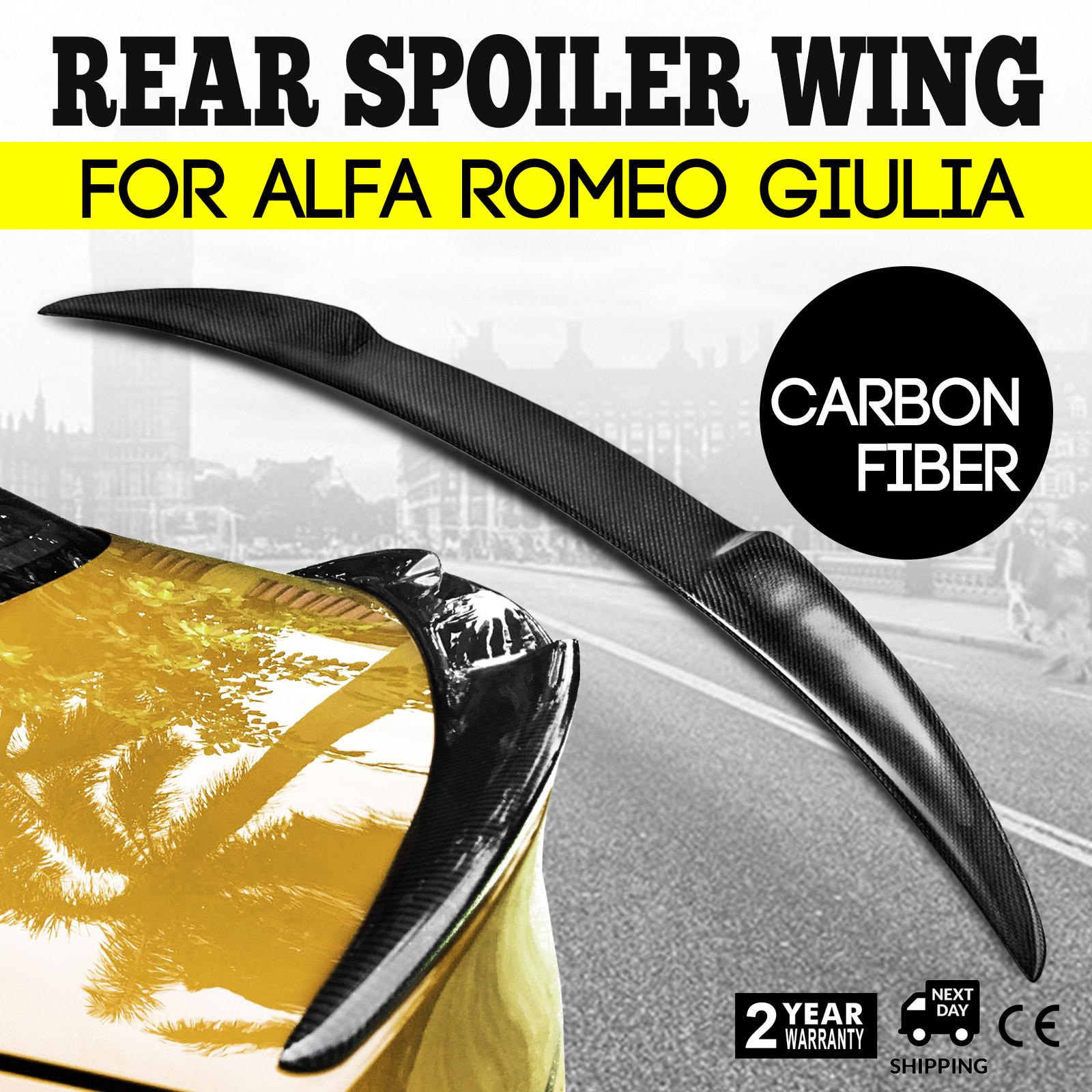 For Alfa Romeo Giulia Quadrifoglio Verde Qv Style Carbon Fiber Rear