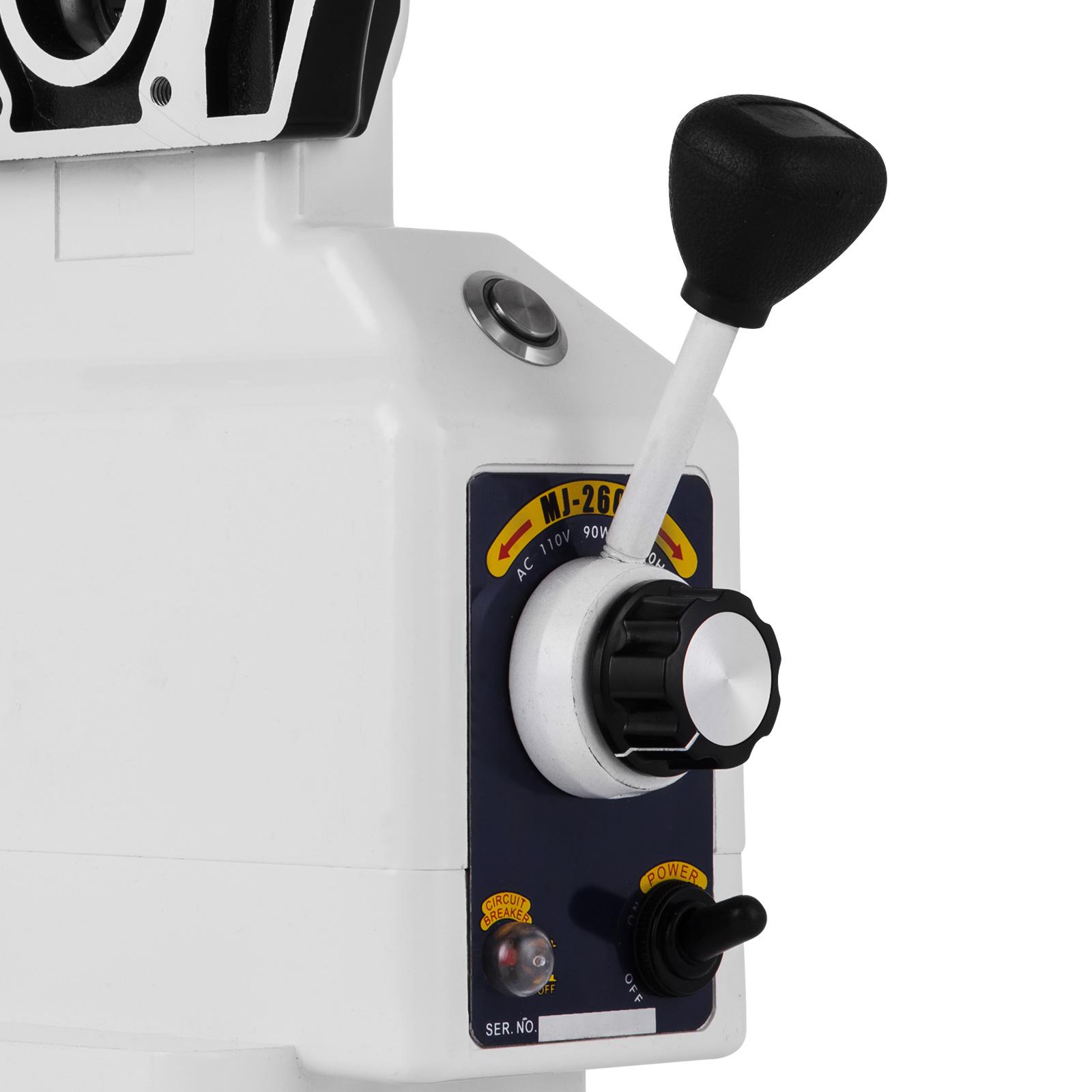 AL-310S X-AXIS Power Feed Milling Machine 0-200RPM 0.4-37.4 IPM X traverse
