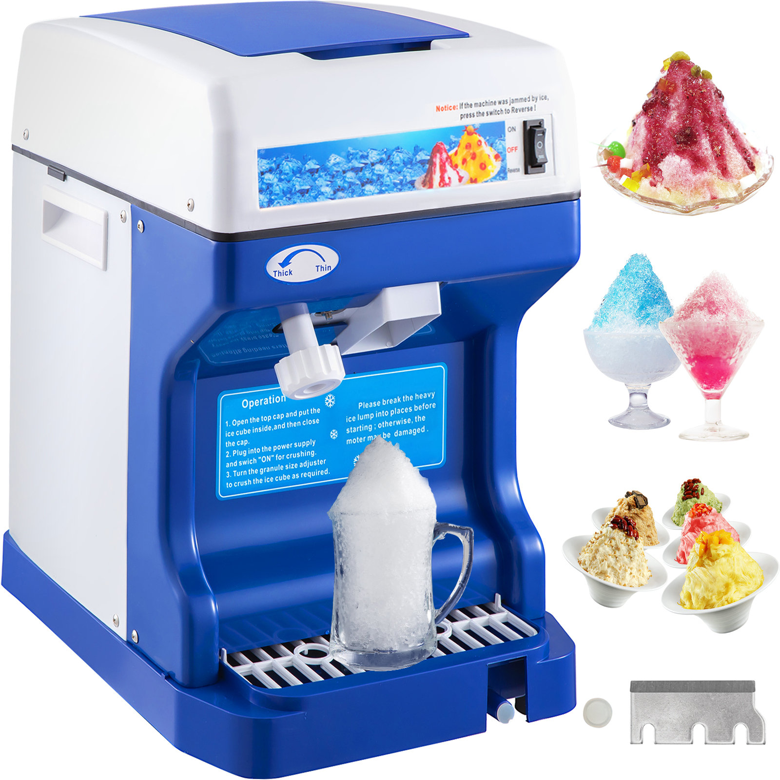 miniature 13 - Commercial Ice Shaver Electric Snow Cone Machine Commercial Blender Ice Crushers