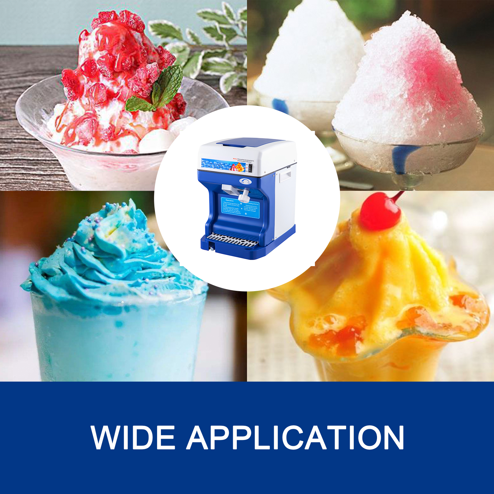 miniature 19 - Commercial Ice Shaver Electric Snow Cone Machine Commercial Blender Ice Crushers