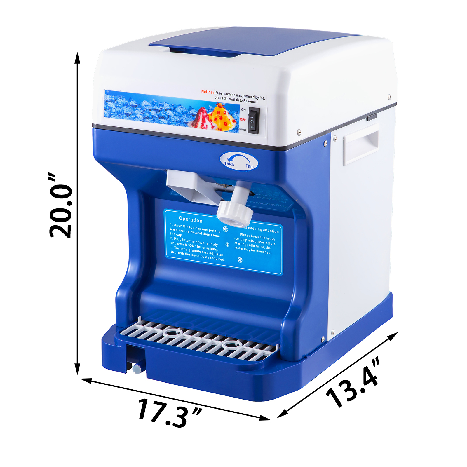 miniature 20 - Commercial Ice Shaver Electric Snow Cone Machine Commercial Blender Ice Crushers