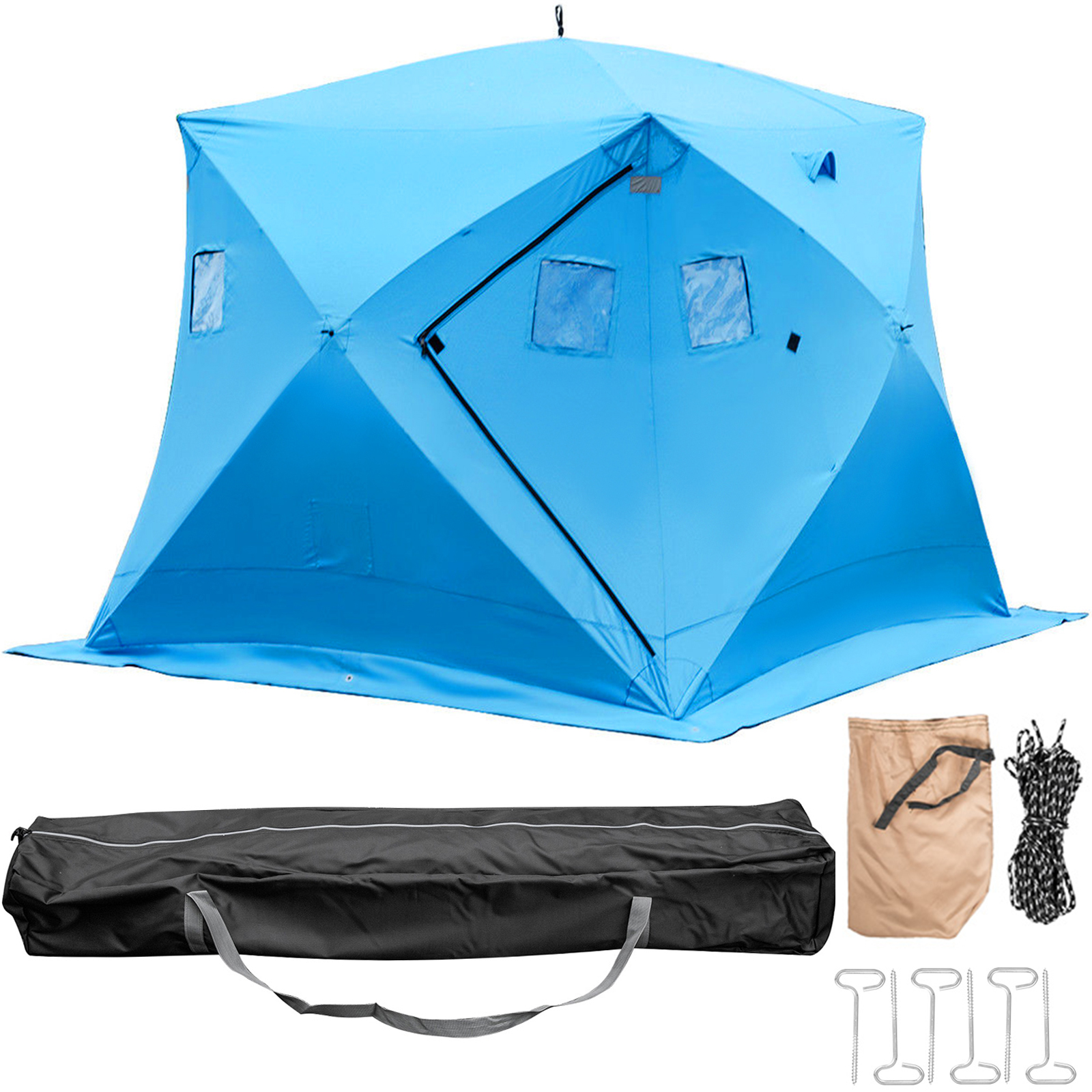 Ice Shelter Fishing Tent Shanty 2-Person Pop-up Stability Waterproof w//Bag Global Products Unlimited